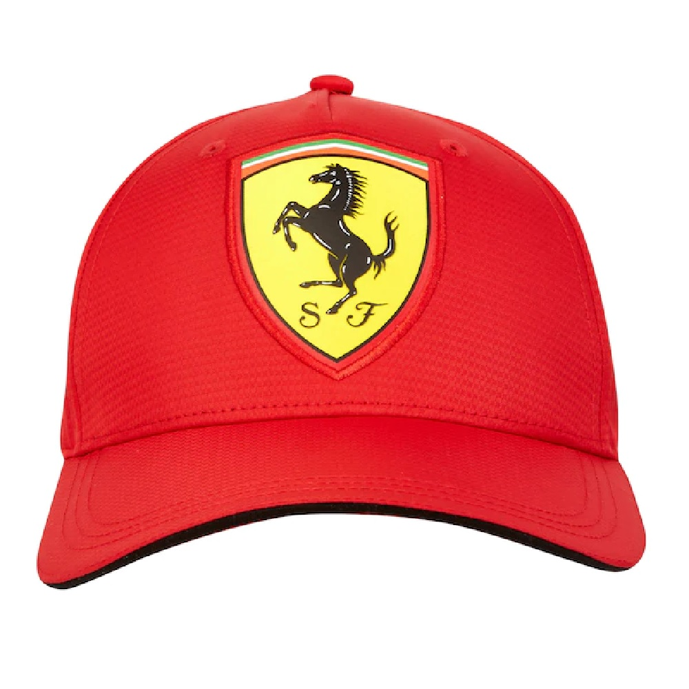 Official 2018 Scuderia Ferrari Fanwear Black Carbon Baseball Cap Adult One Size