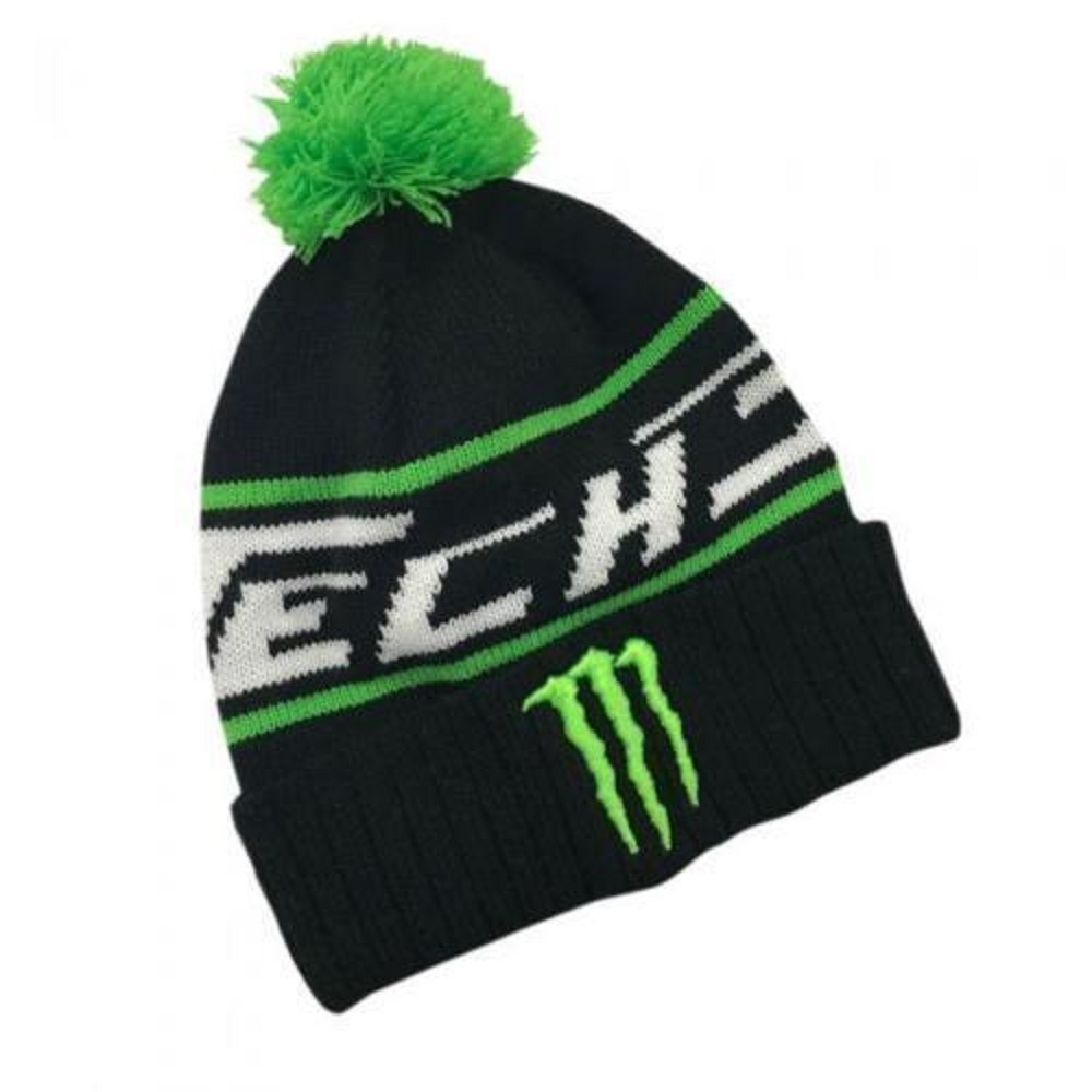 ff9b2570417 HAT Monster Energy Green PomPom Beanie BSB Bike MotoGP Superbike ...