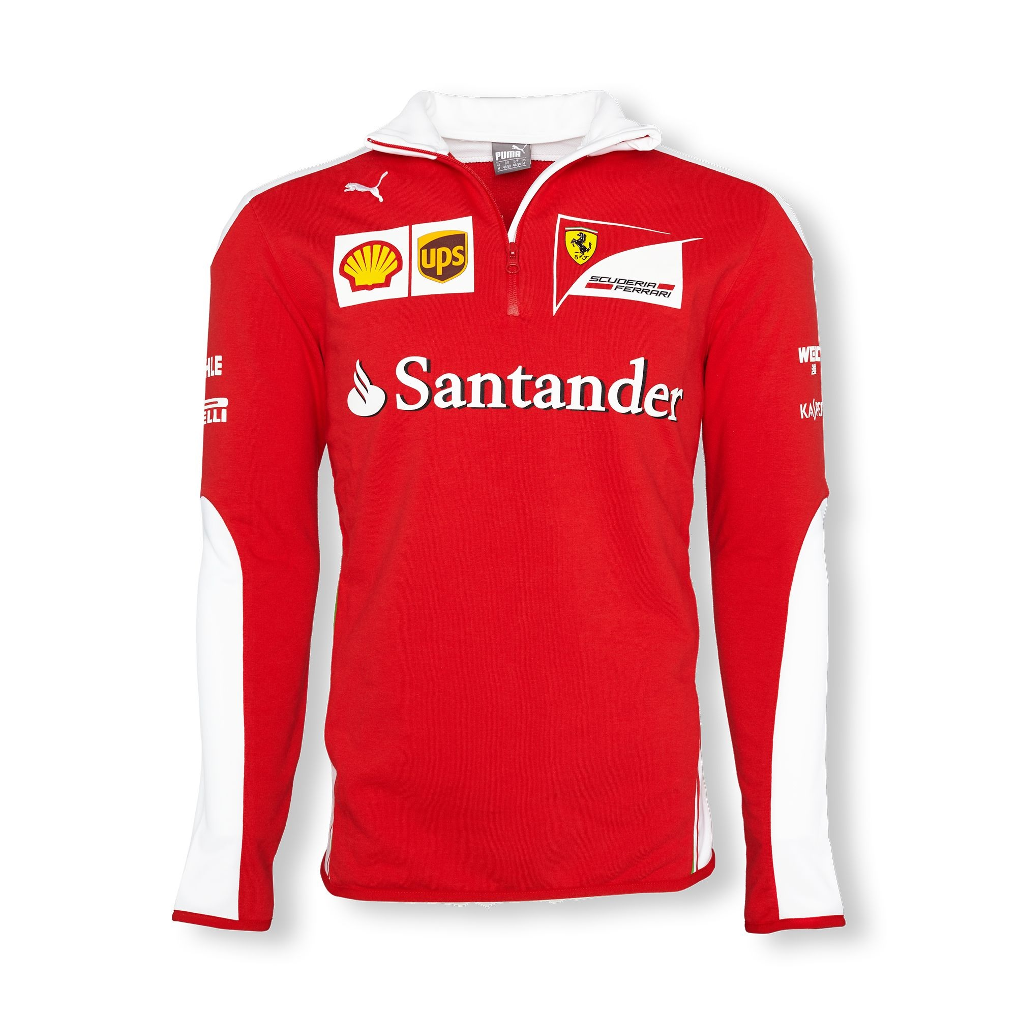 Details about SWEATSHIRT Fleece Scuderia Ferrari Mens Sponsor Formula One  F1 Red White M CA c87f41f1d