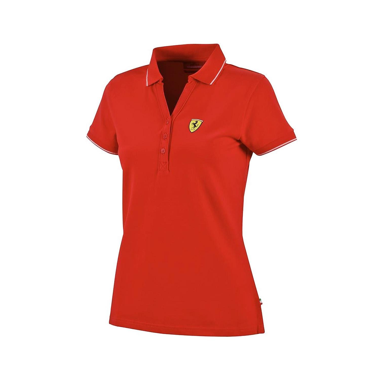 Charmant Polo Femme Ferrari Coton Pique Polo F1 Formula One 1 équipe Nouveau! Rouge Xl-afficher Le Titre D'origine Brillant En Couleur