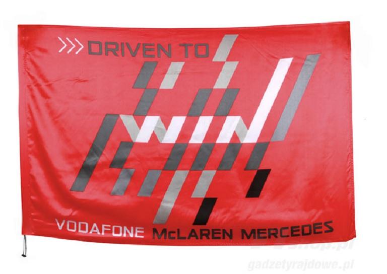 FLAG and CAP Formula One 1 Vodafone McLaren Mercedes F1 NEW Rocket Red VMM V08