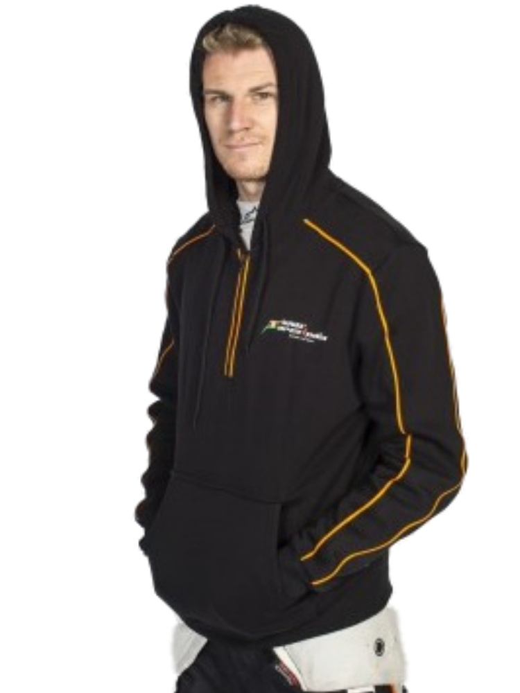 SWEATSHIRT Hood Formula One 1 Sahara Force India Team Logo F1 NEW Black