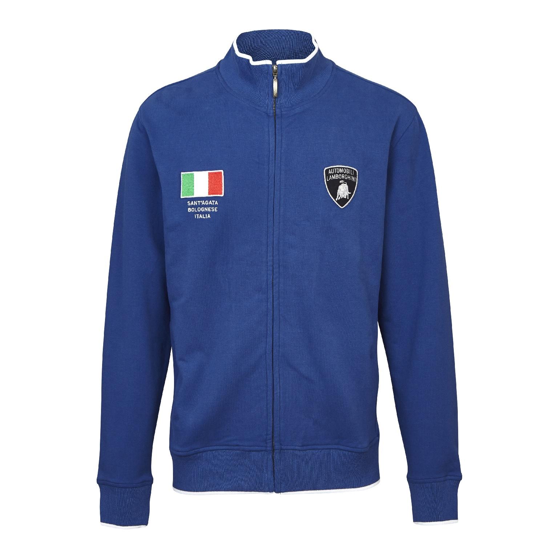 Sweatshirt Full Zip Automobili Lamborghini Sportscar Le Mans LX111 Blue  CA
