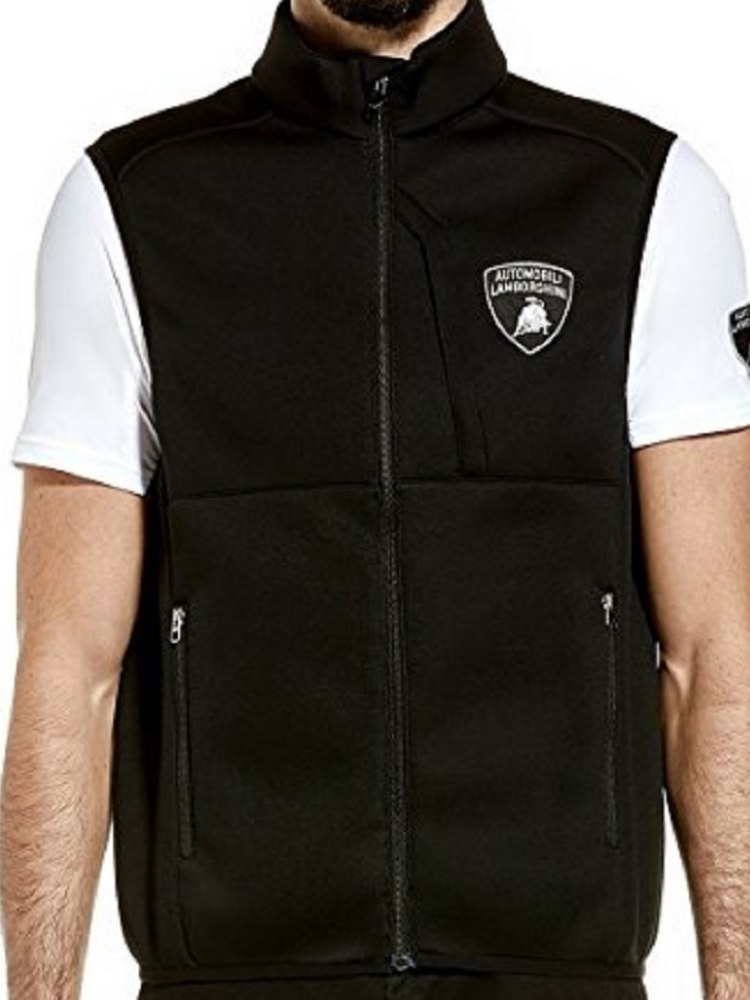 Women/'s Automobili Lamborghini Squadra Course Short Sleeve Polo Black Rare!