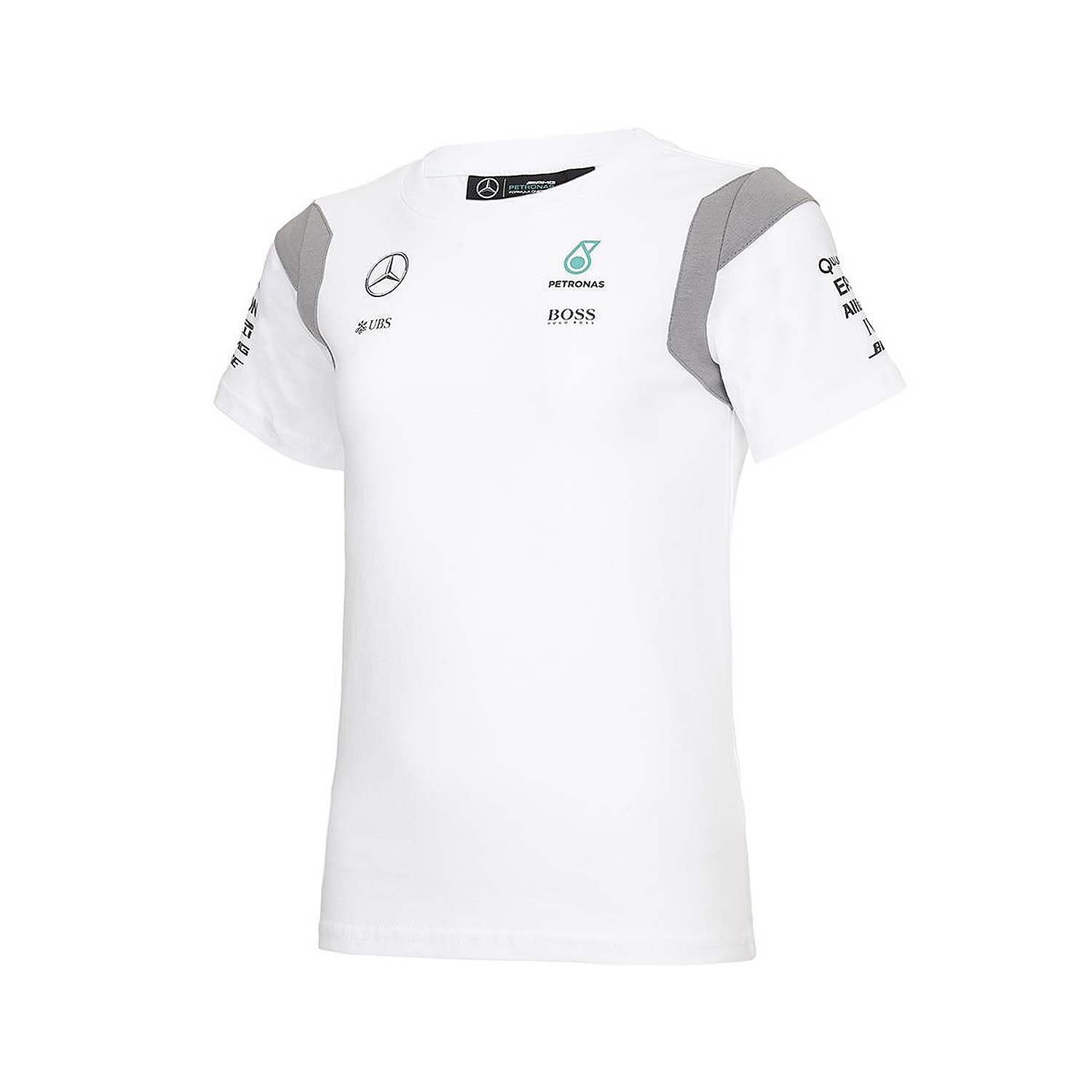 Bambini 2 - 16 anni T-Shirt Kids Formula One 1 Mercedes AMG Petronas F1 Team Bambino Bianco Nuovo! T-shirt, maglie e camicie