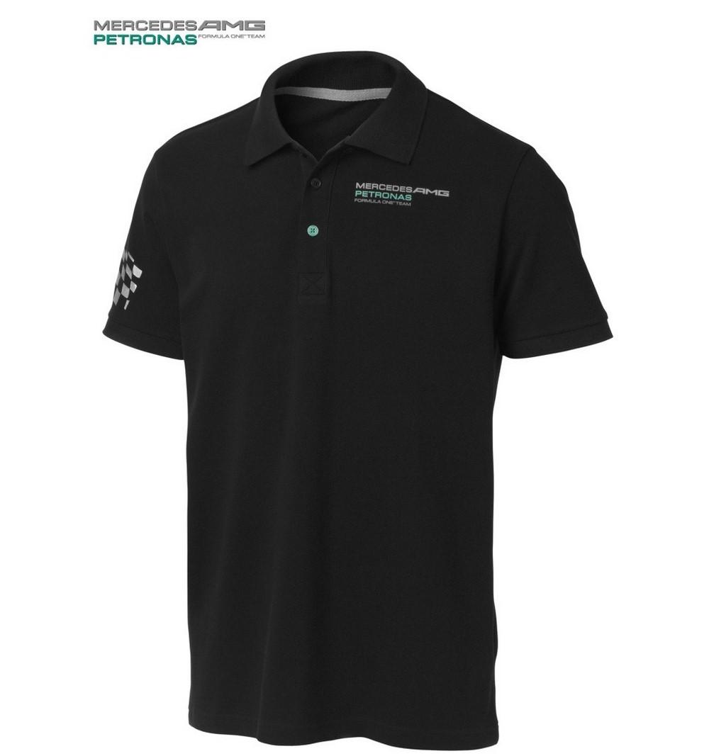 polo shirt 16 100 formula one 1 mercedes amg petronas f1 new logo black s us ebay. Black Bedroom Furniture Sets. Home Design Ideas