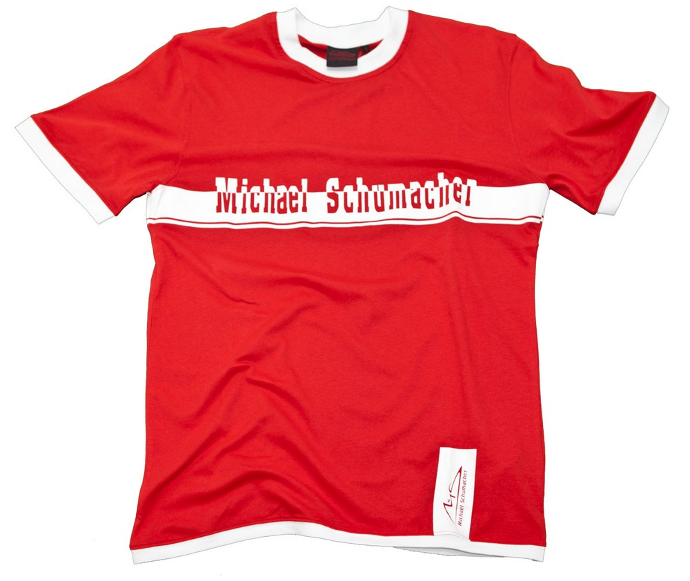 t shirt tee formula one 1 michael schumacher f1 new red contrast ebay. Black Bedroom Furniture Sets. Home Design Ideas