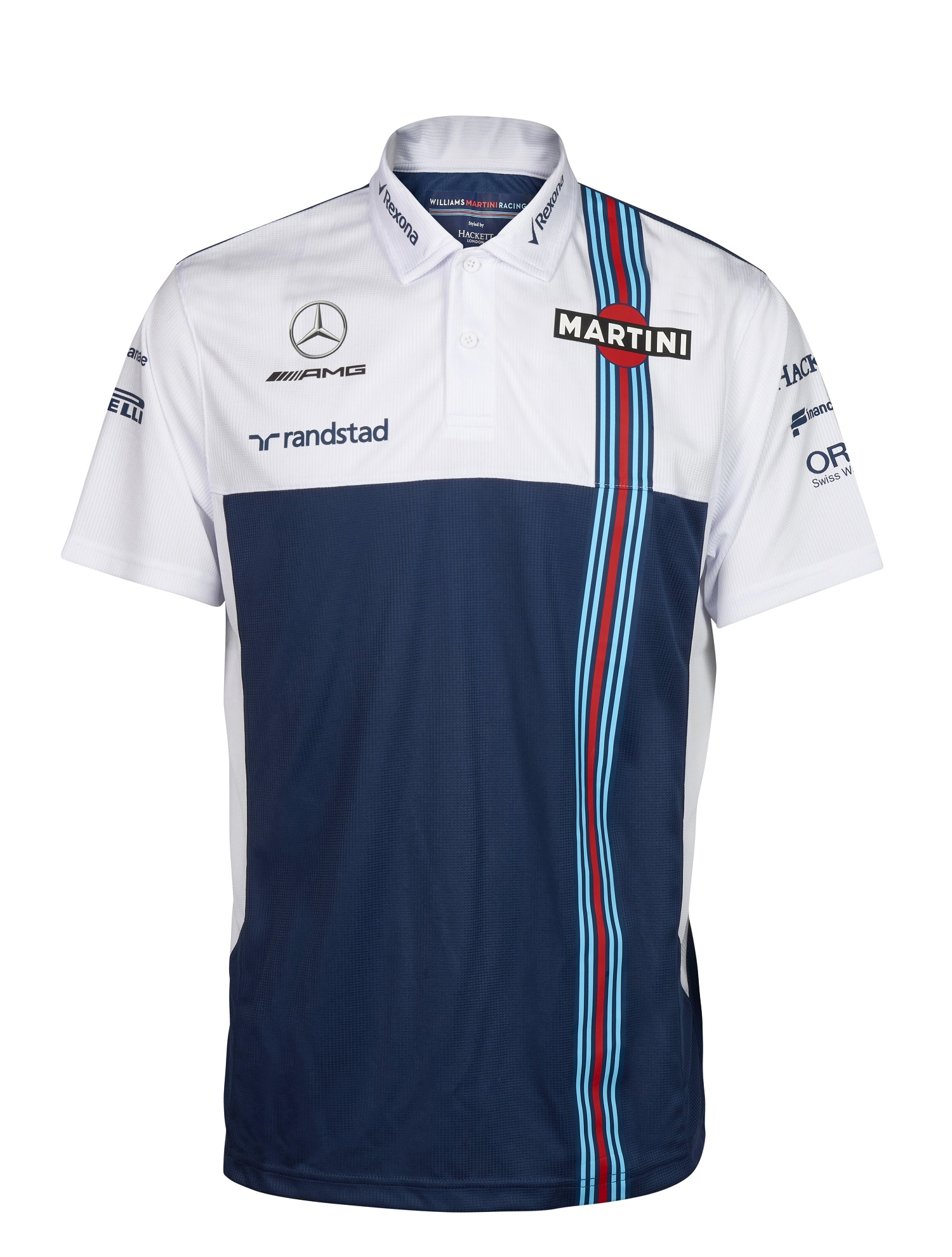 POLO Mens Williams Martini F1 Formula One 1 Mercedes Poloshirt PQ Nvy Wht US