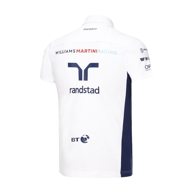 POLO-damen-Williams-Martini-F1-Formula-1-Mercedes-PIQ-Poloshirt-weiss-CH Indexbild 5