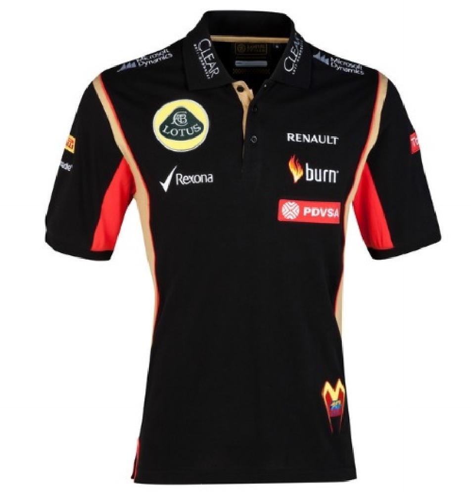 PDVSA Sponsor 2014//5 XSmall POLO Shirt Adult Formula One 1 Lotus F1 Team NEW