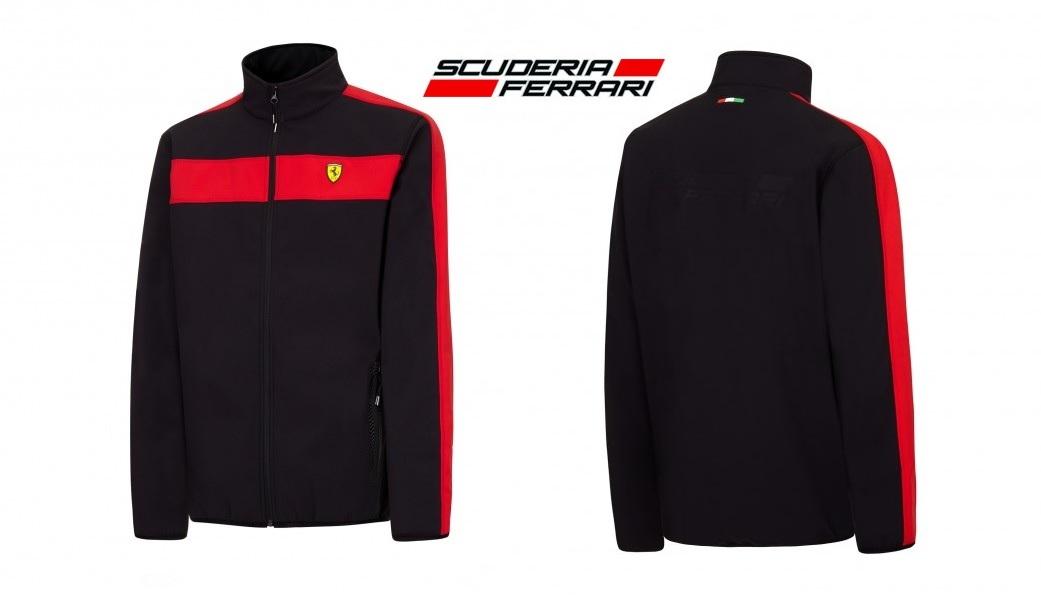 salvare faf91 cd9cd Dettagli su Giacca Soft Shell Cappotto in pile da uomo Scuderia Ferrari  Formula Uno F1 Nero NUOVE S- mostra il titolo originale
