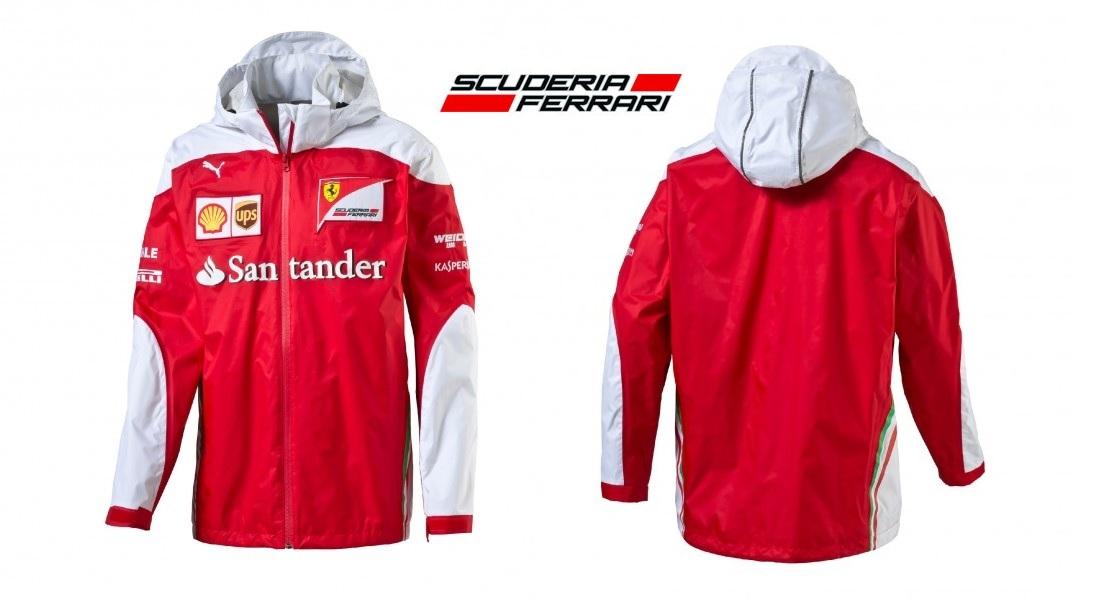 098baa8b Details about JACKET Scuderia Ferrari Team Mens Coat Sponsor Formula One F1  Red White New!