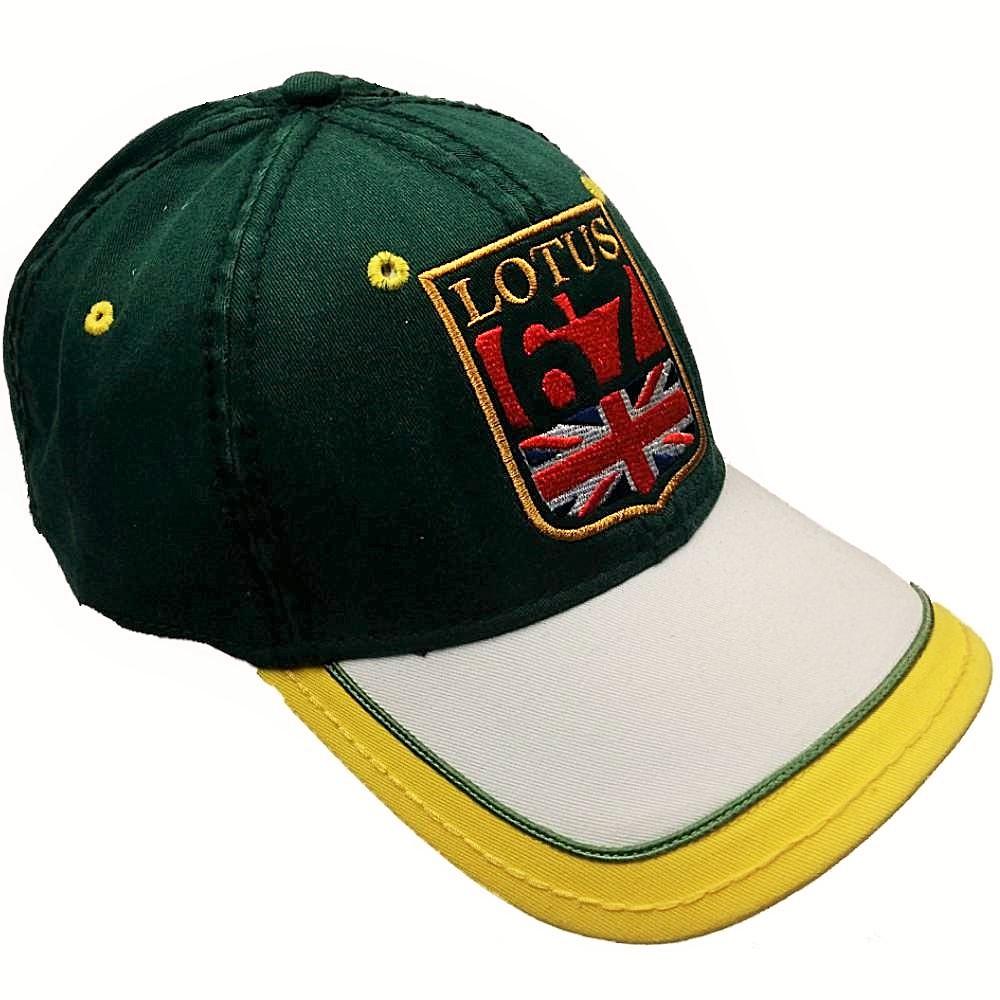 Hommes: vêtements Cap LHM25 Formula One 1 Team Lotus Originals F1 NOUVEAU Lotus Crest vert foncé