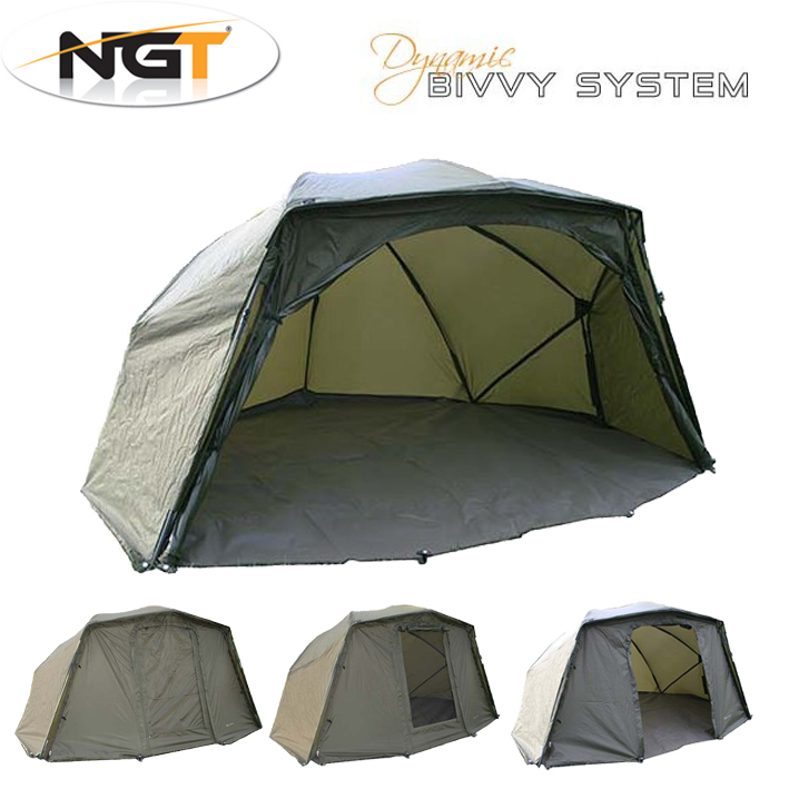 Ngt Dynamic 60 Brolly Bivvy System Oval Storm Sides Pegs