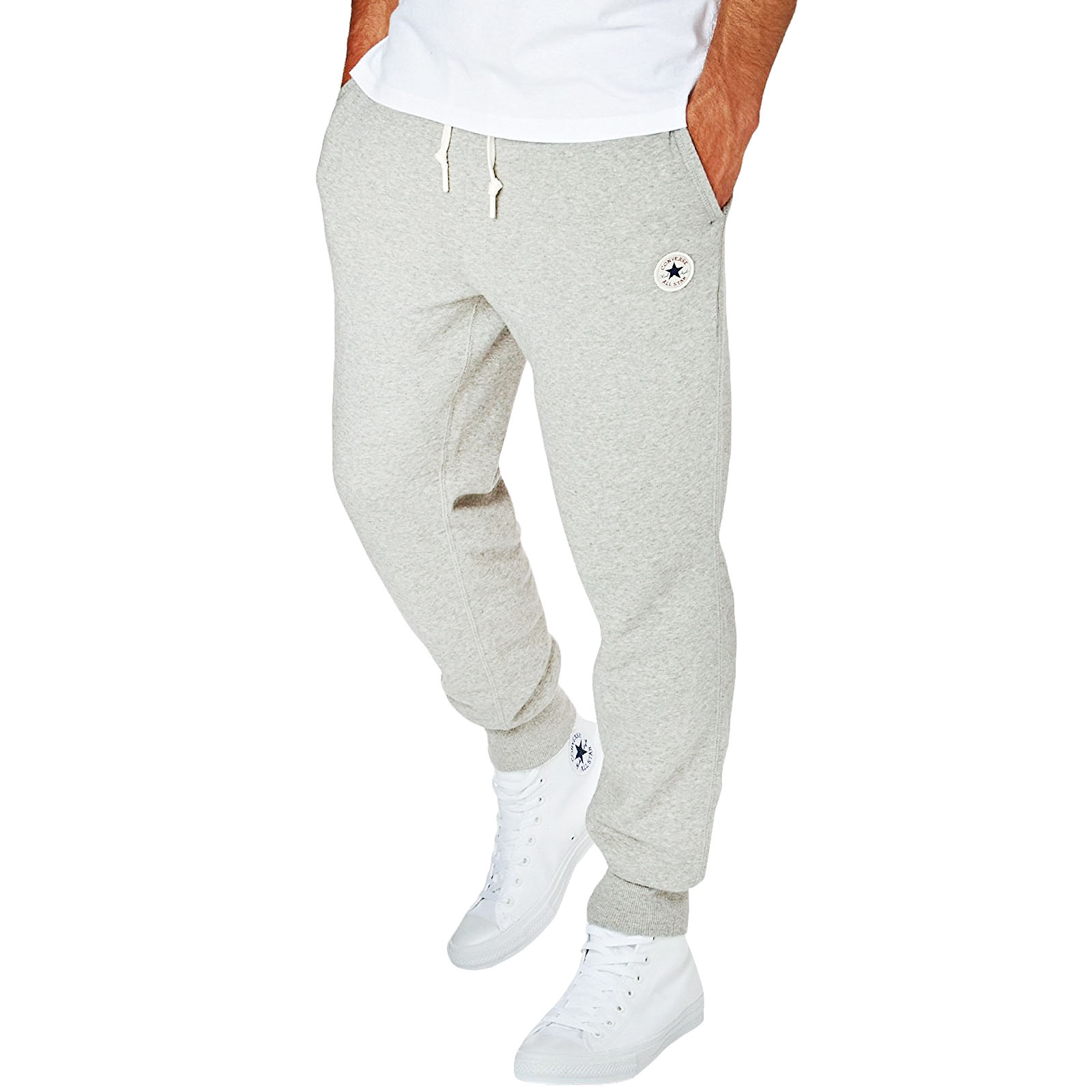 777578261dc0 Details about Converse Core Mens All Star Chuck Rib Cuff Joggers Jogging  Bottoms Pants - Grey