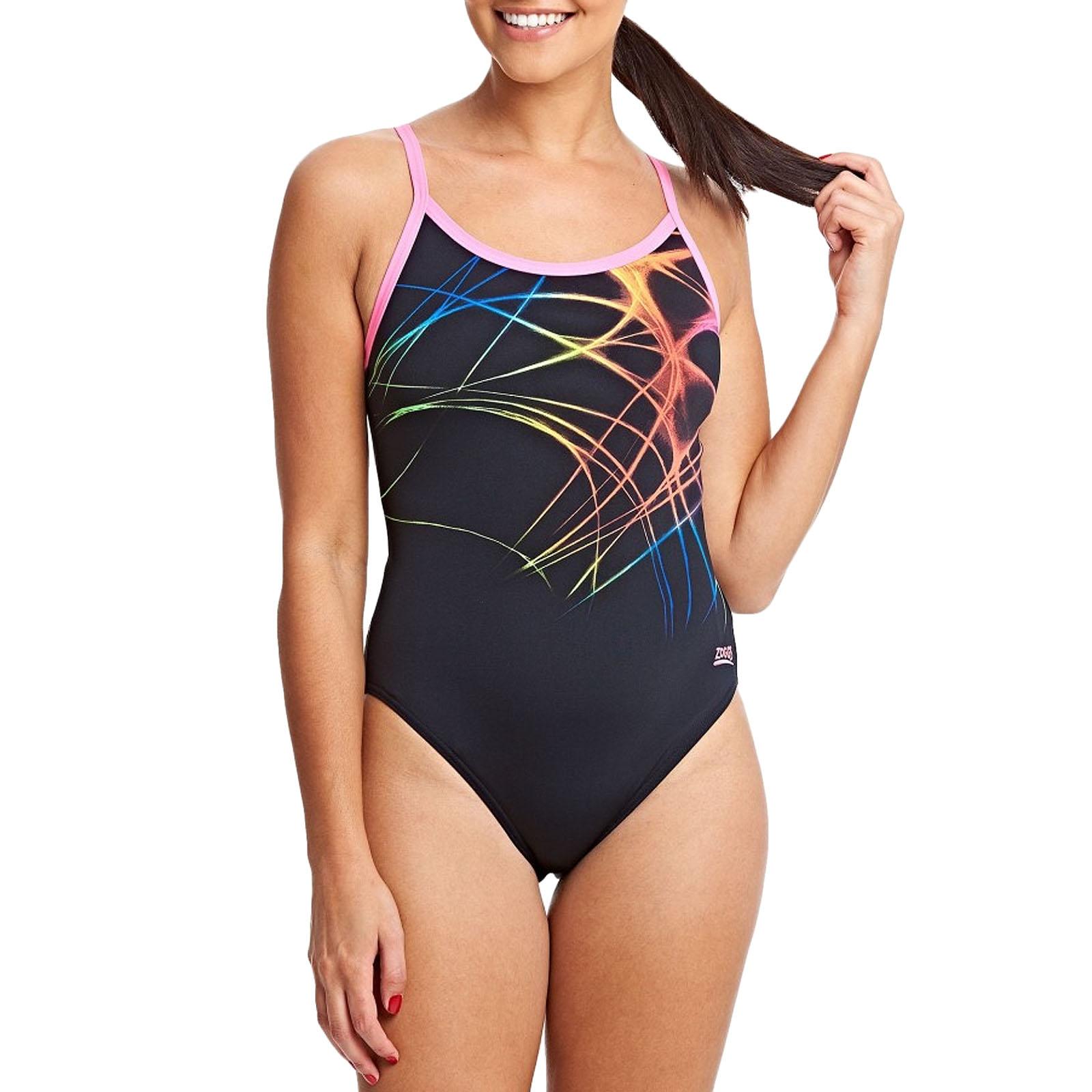 8UK Zoggs Womens Brighton Maternity Swimming Swim Costume One Piece Swimsuit