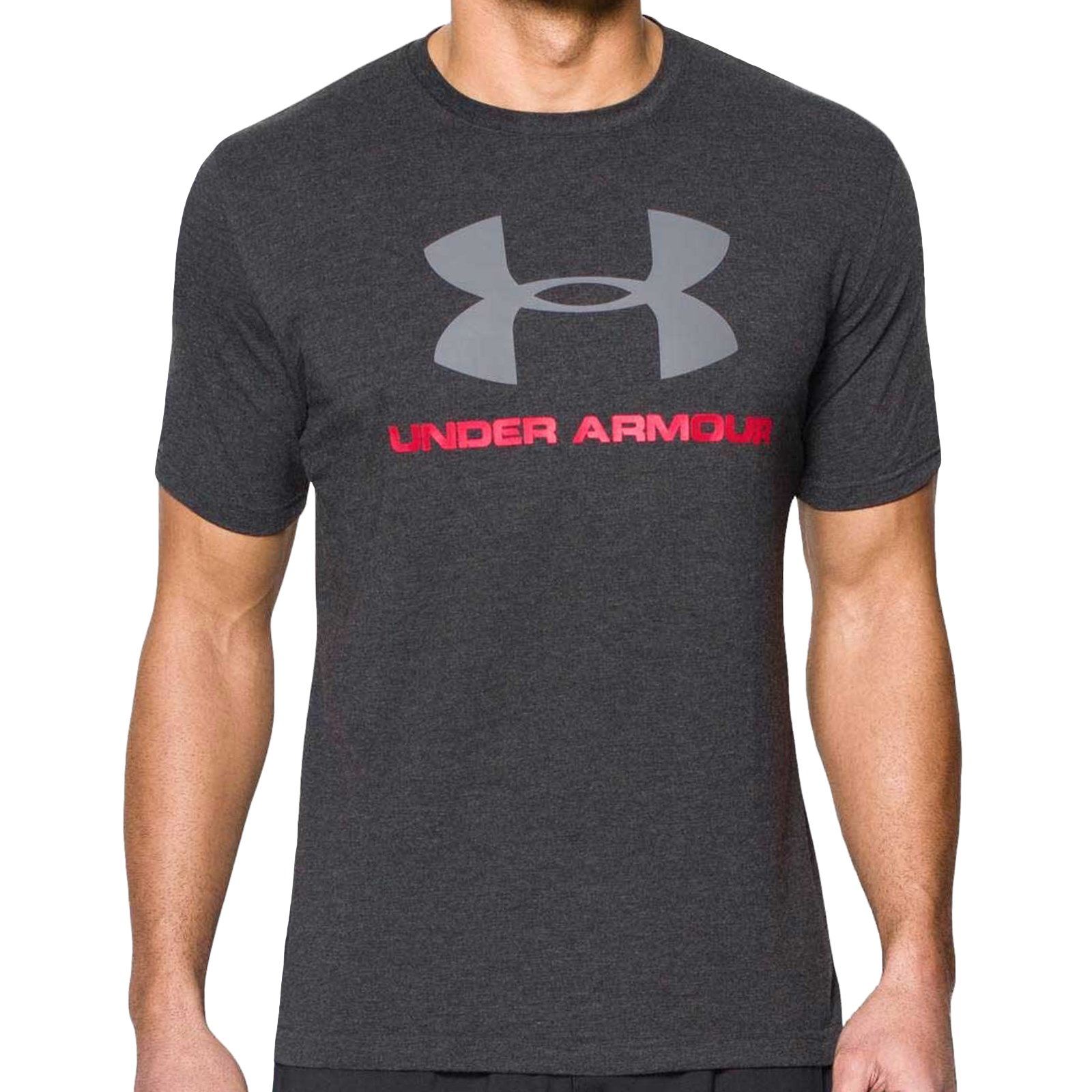 Under-Armour-Mens-Sportstyle-Logo-Charged-Cotton-Gym-Training-T-Shirt-Tee-Top