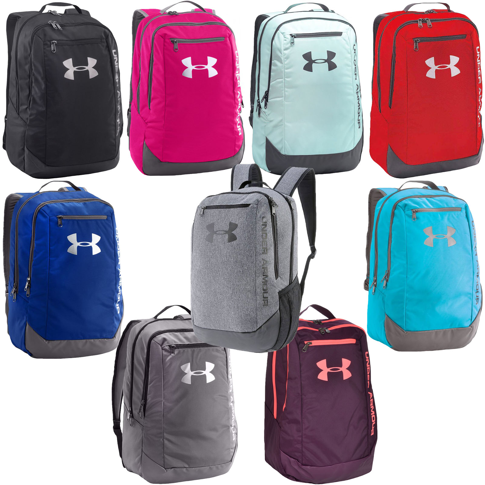 003459821f Under Armour 2017 UA Hustle LDWR 24l Laptop Backpack Gym School Bag ...