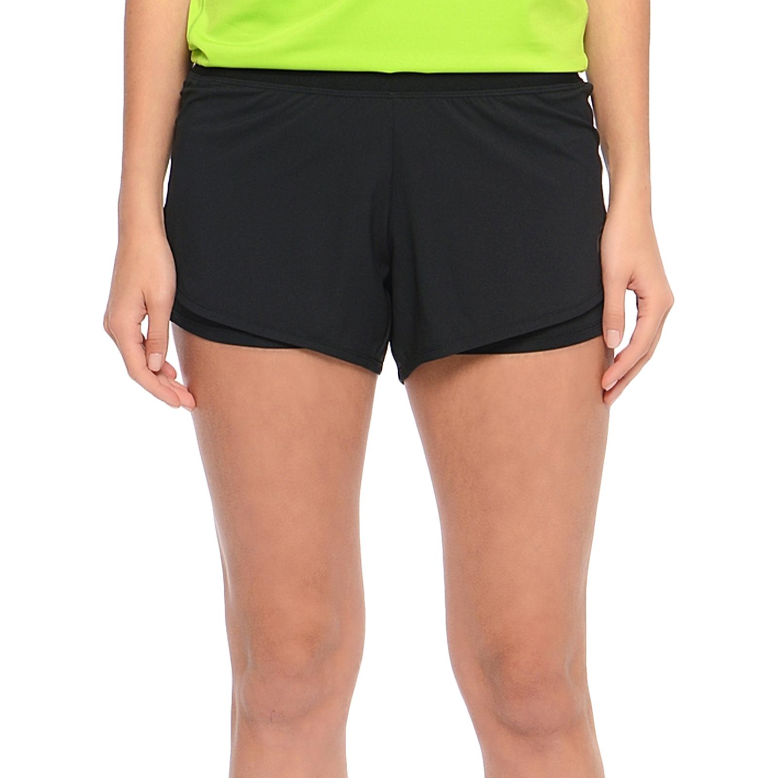 b2f49320ef52 Details about asics Performance Womens 2-n-1 3.5 Inch Marathon Running Gym  Shorts - L