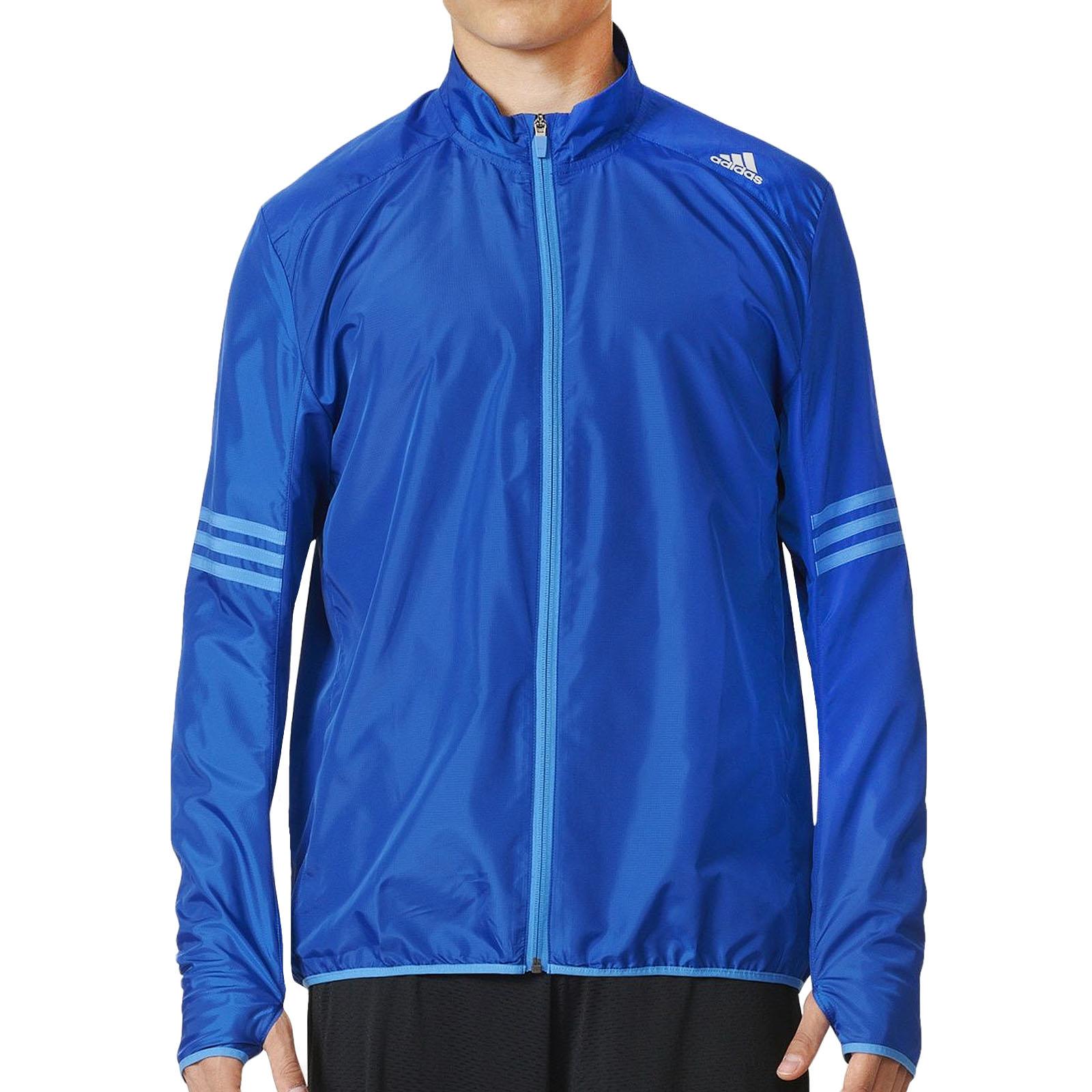 Détails sur Adidas Performance pour homme Response Coupe régulière Zippé Running Wind Jacket bleu afficher le titre d'origine