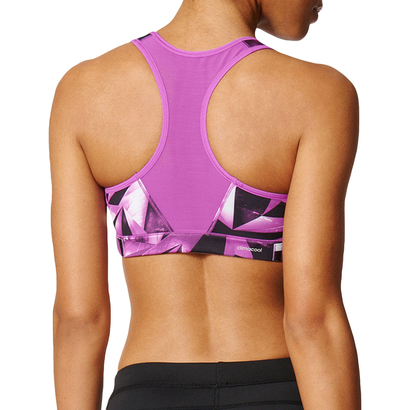 516559ee453c3 adidas Performance Womens Workout Gym Racer Back Printed Crop Top ...