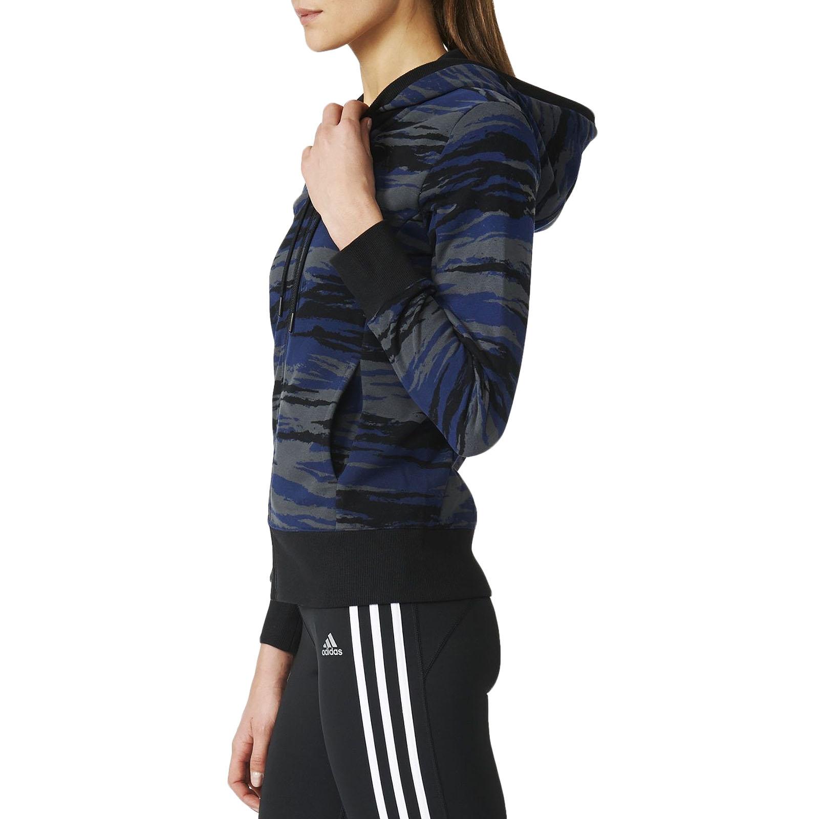 Dettagli su Adidas Performance Donna Mimetico Essentials Felpa con Cappuccio