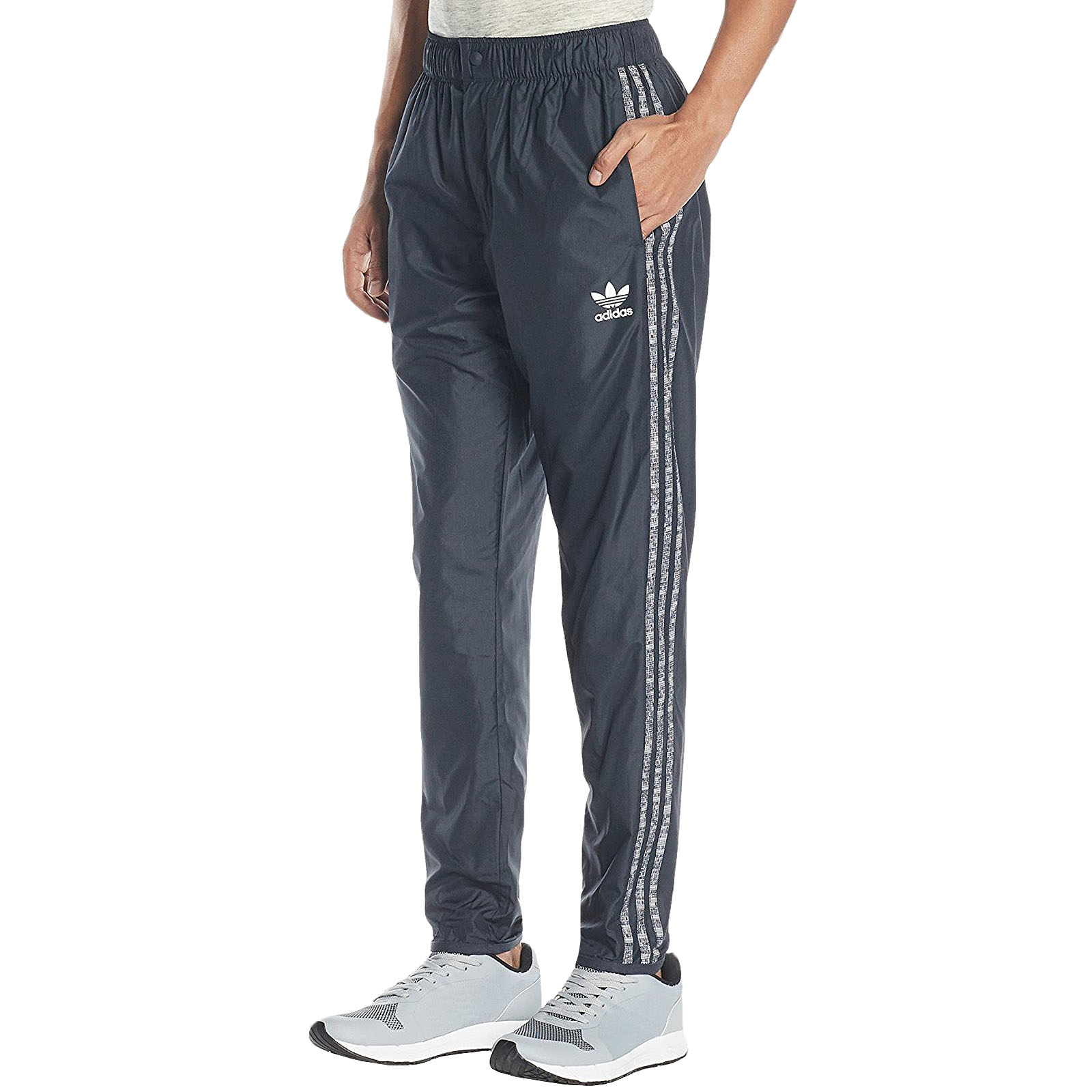 308c28171c95 Details about adidas Originals Mens Trefoil Windpant Tracksuit Bottoms  Joggers Trousers - Grey