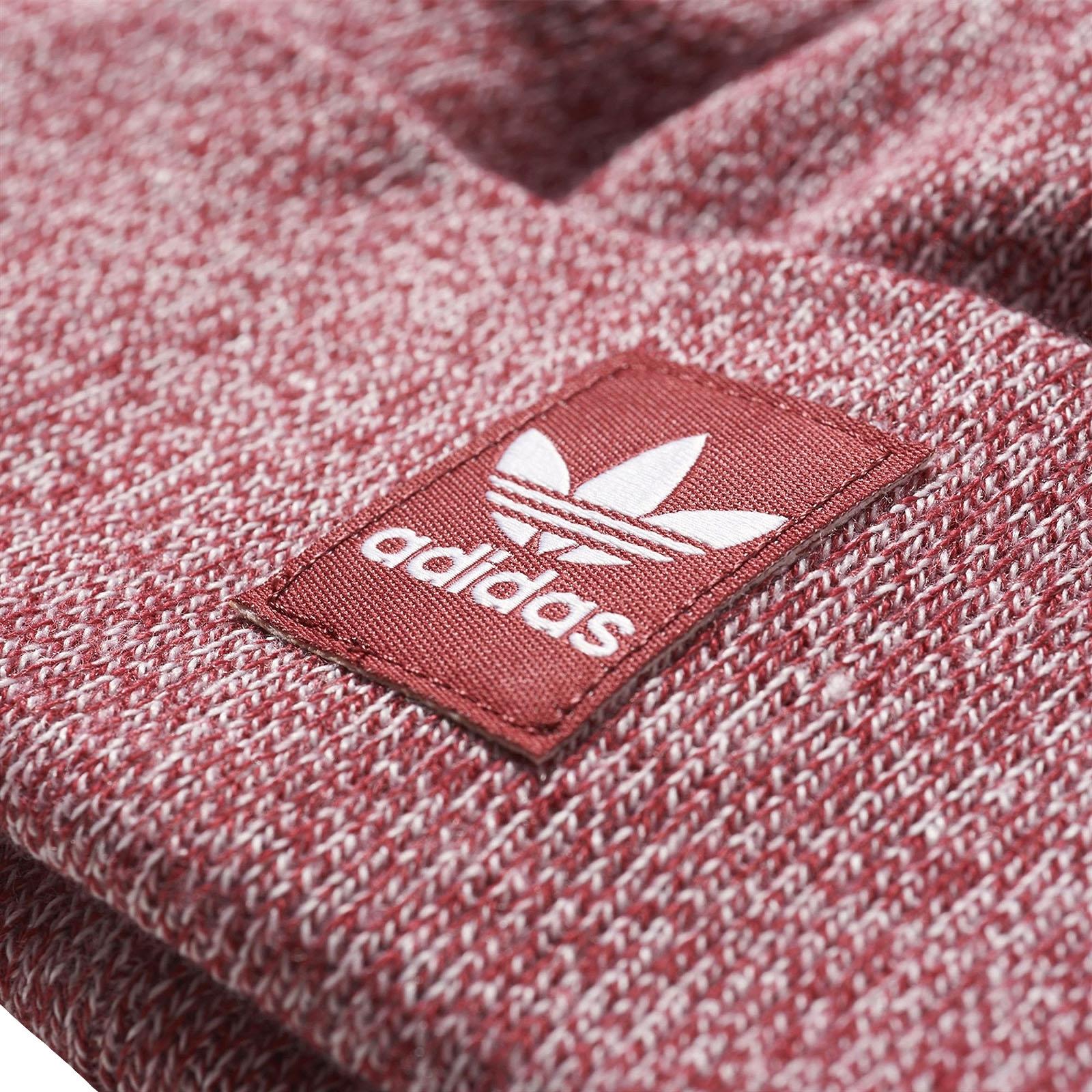 Détails sur Adidas Originaux Chaud Hiver Côtelé Logo Bonnet Bordeaux Osfw