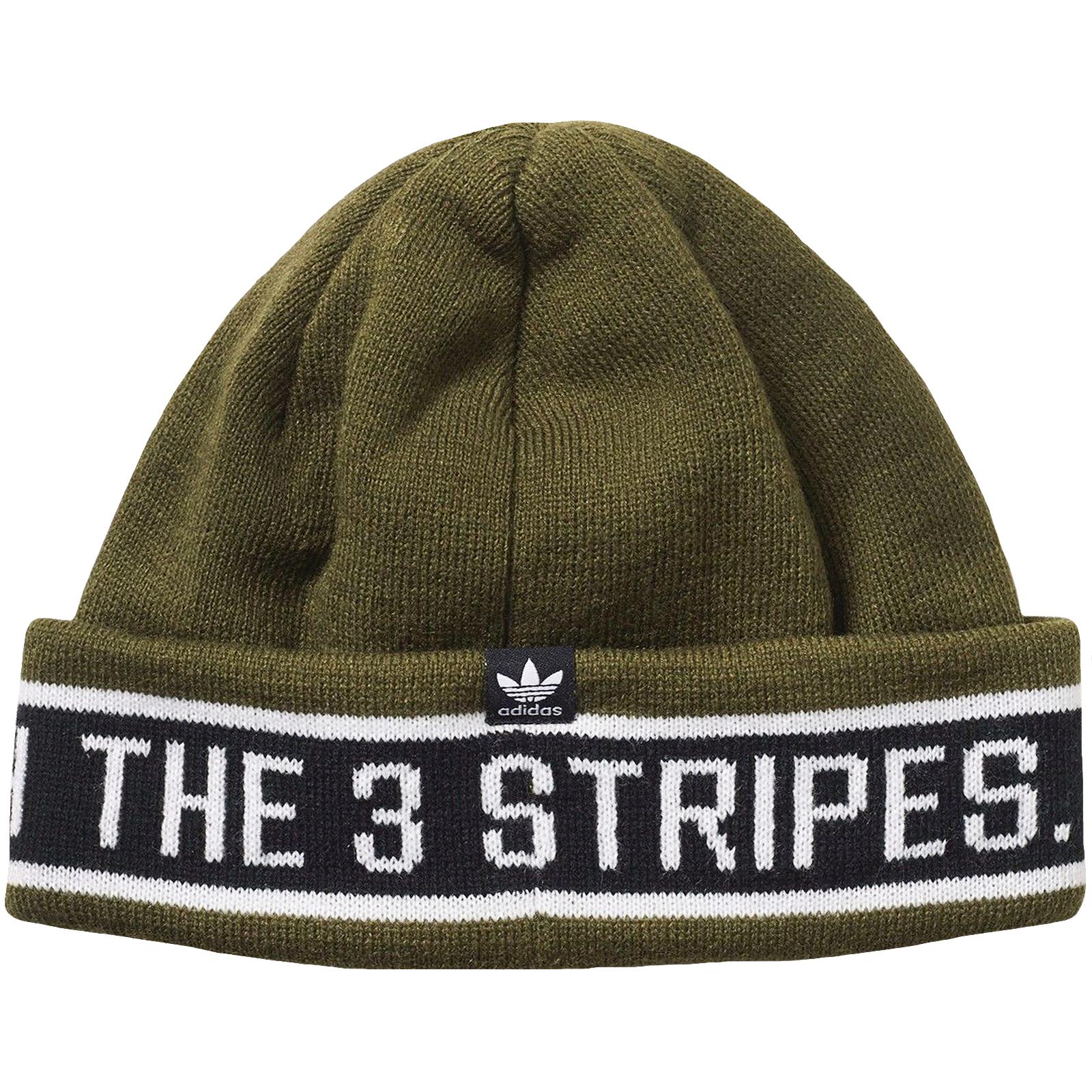 Details about adidas Originals Womens Rib Logo 3 Stripes Knit Beanie Hat -  Green - One Size fd63b20ef
