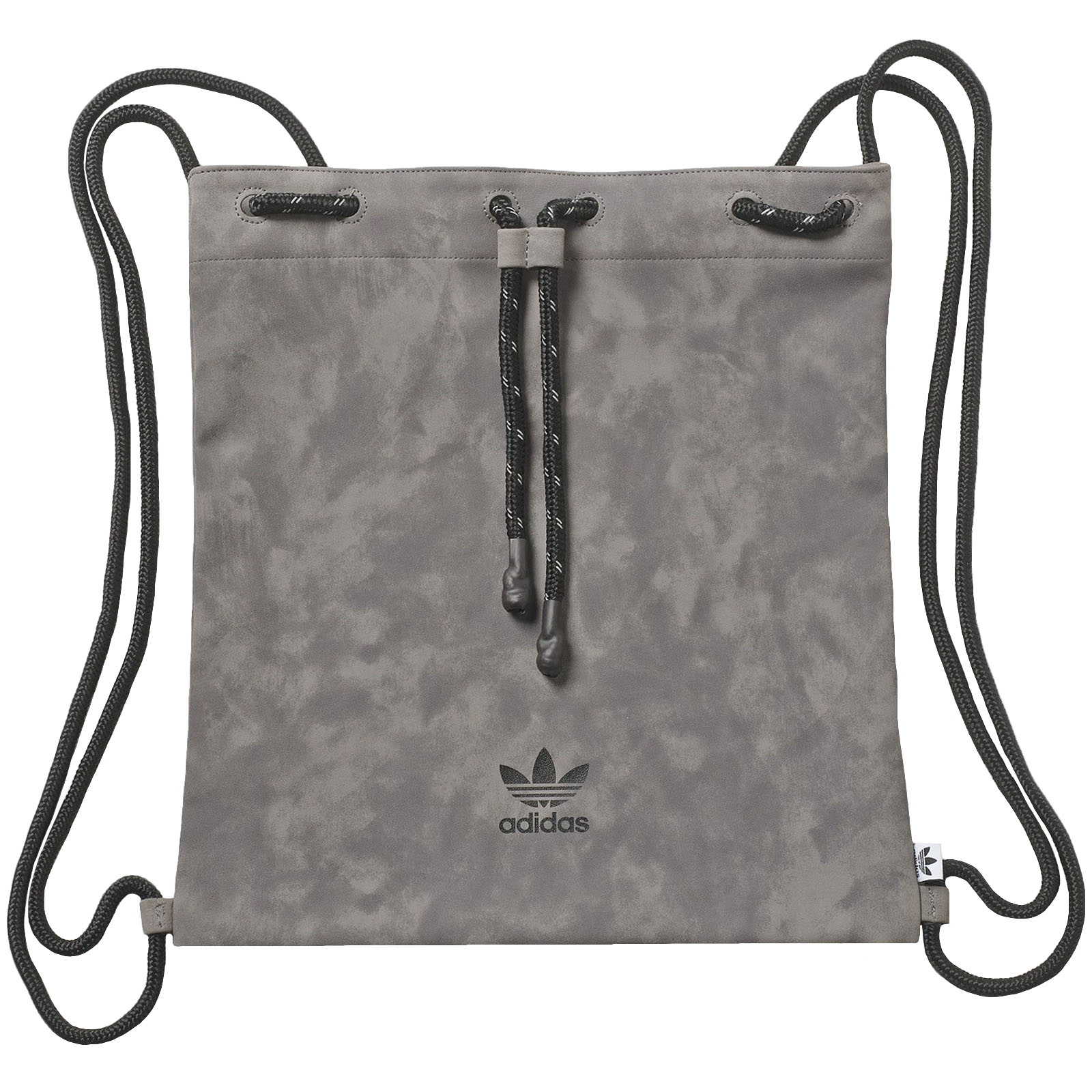 0e5da87b3283 Details about adidas Originals Womens Suede Trefoil Drawstring Gym Sack Bag  - Grey