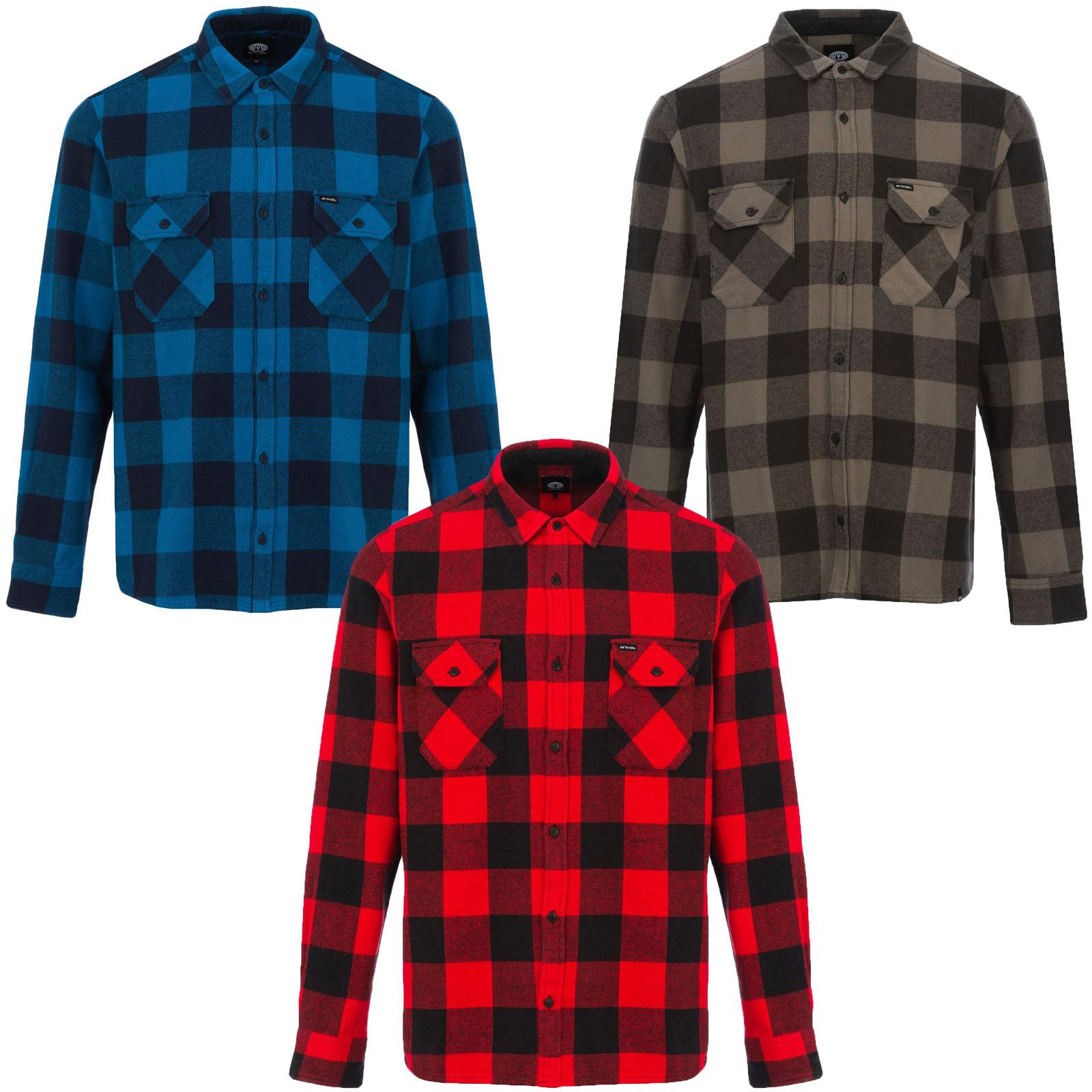 Details about Animal Mens Shovel Checked Long Sleeve 2 Pocket Casual Cotton Lumberjack  Shirt 24971dea5