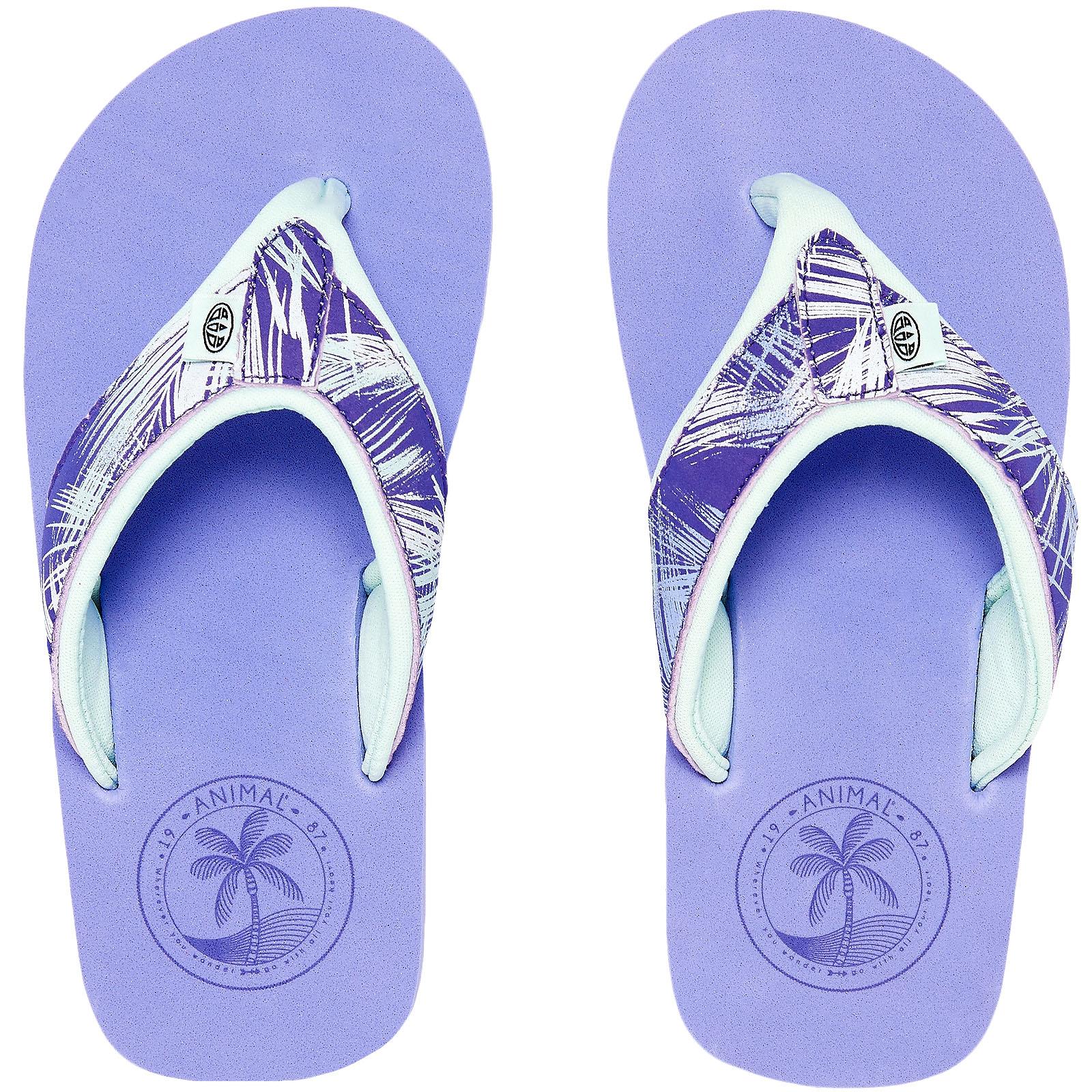 Animal Swish Upper Aop Girls Azul Footwear Sandals - Iris Azul Girls All Talla 1f14ab