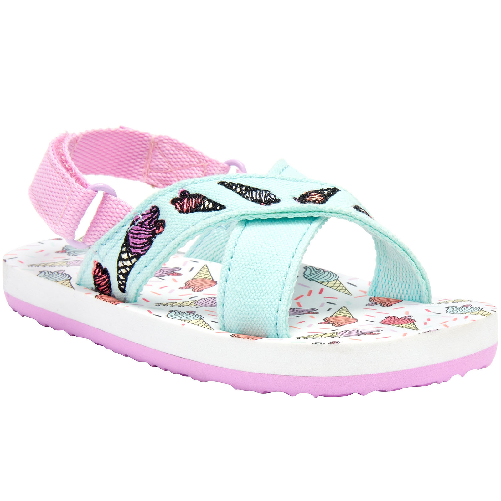 Animal-Girls-Daisie-Kids-Childrens-Beach-Summer-Holiday-Slip-On-Thongs-Sandals miniature 5