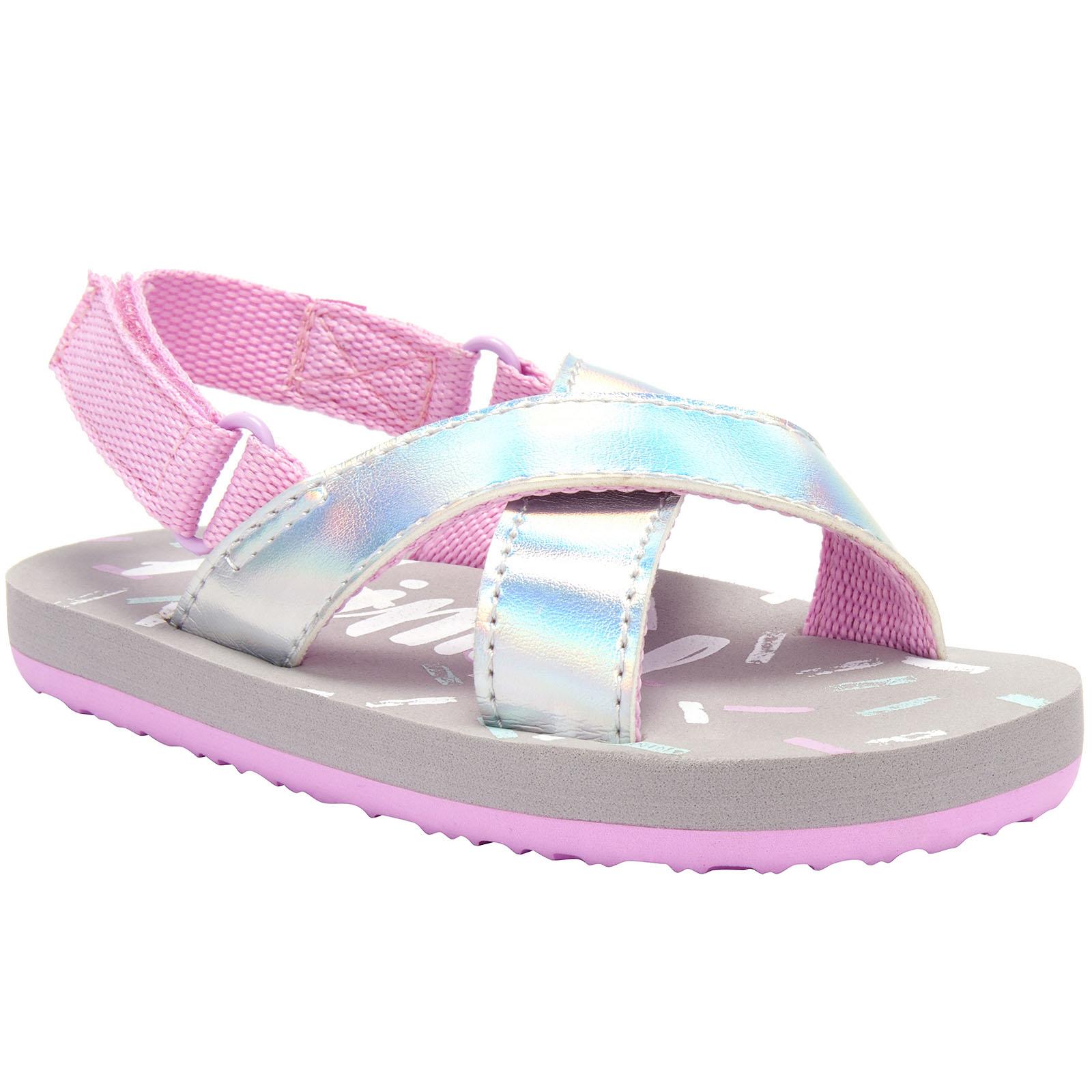 Animal-Girls-Daisie-Kids-Childrens-Beach-Summer-Holiday-Slip-On-Thongs-Sandals miniature 3