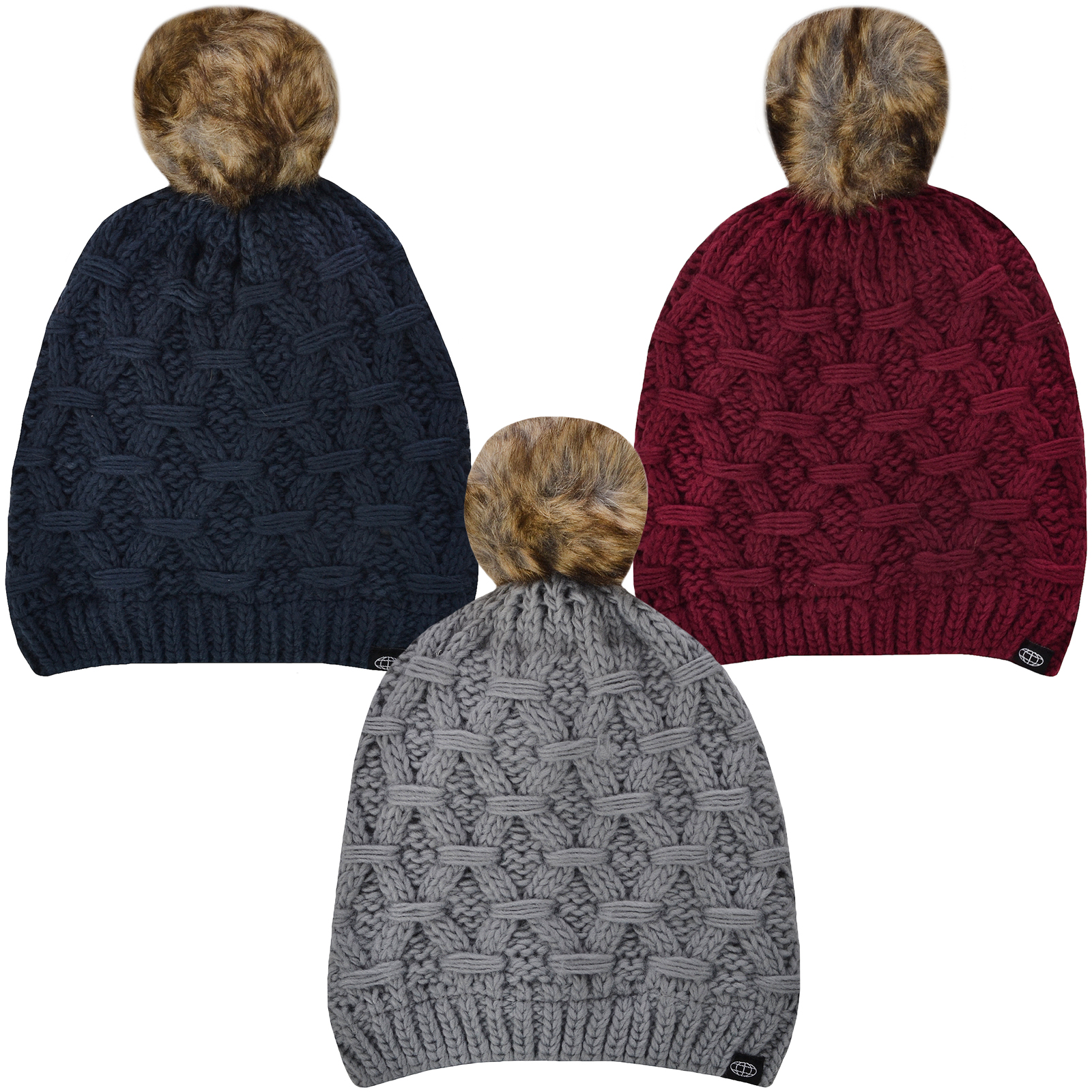 7dc03736afc Details about ProClimate Womens Thinsulate Waterproof Winter Knitted Pom  Pom Beanie Bobble Hat