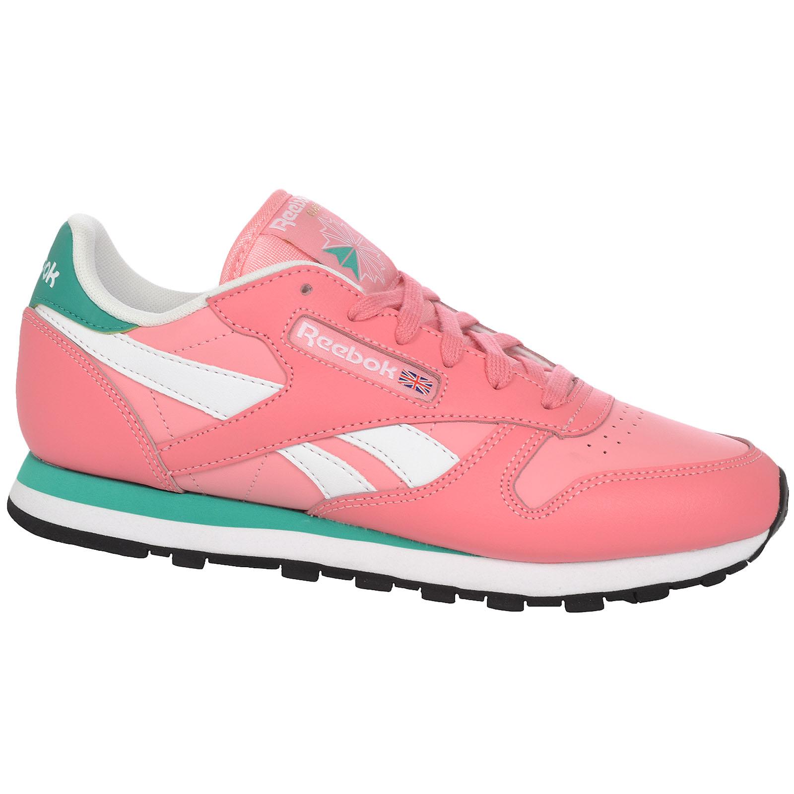 cheap for discount 8a412 ac815 ... Reebok Classic Mujer Cuero temporada 2 Moda Informal Correr Zapatillas  Zapatos ...