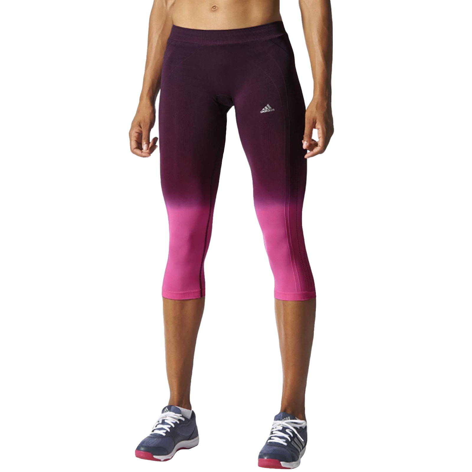 adidas performance adipure damen capri strumpfhosen capri leggings laufsport ebay. Black Bedroom Furniture Sets. Home Design Ideas