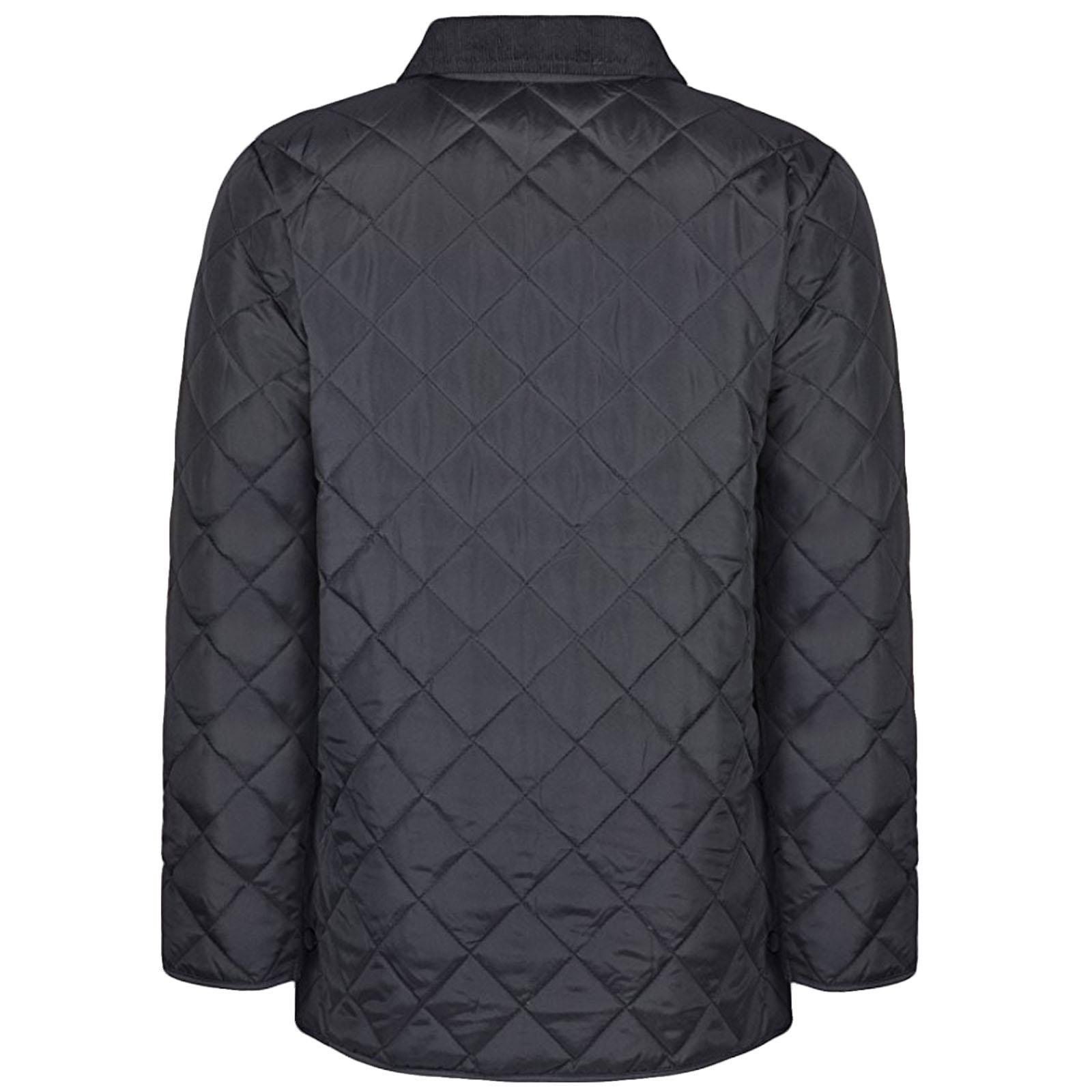 Soul Star Mens Diamond Quilted Jacket Cord Collar Popper Buttoned ... : diamond quilt jacket - Adamdwight.com