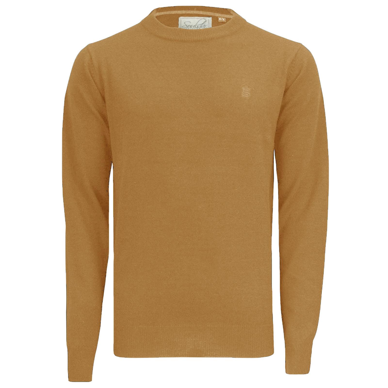 Soul Star Mens Plain Crew Neck Jumper Casual Basic Sweater ...