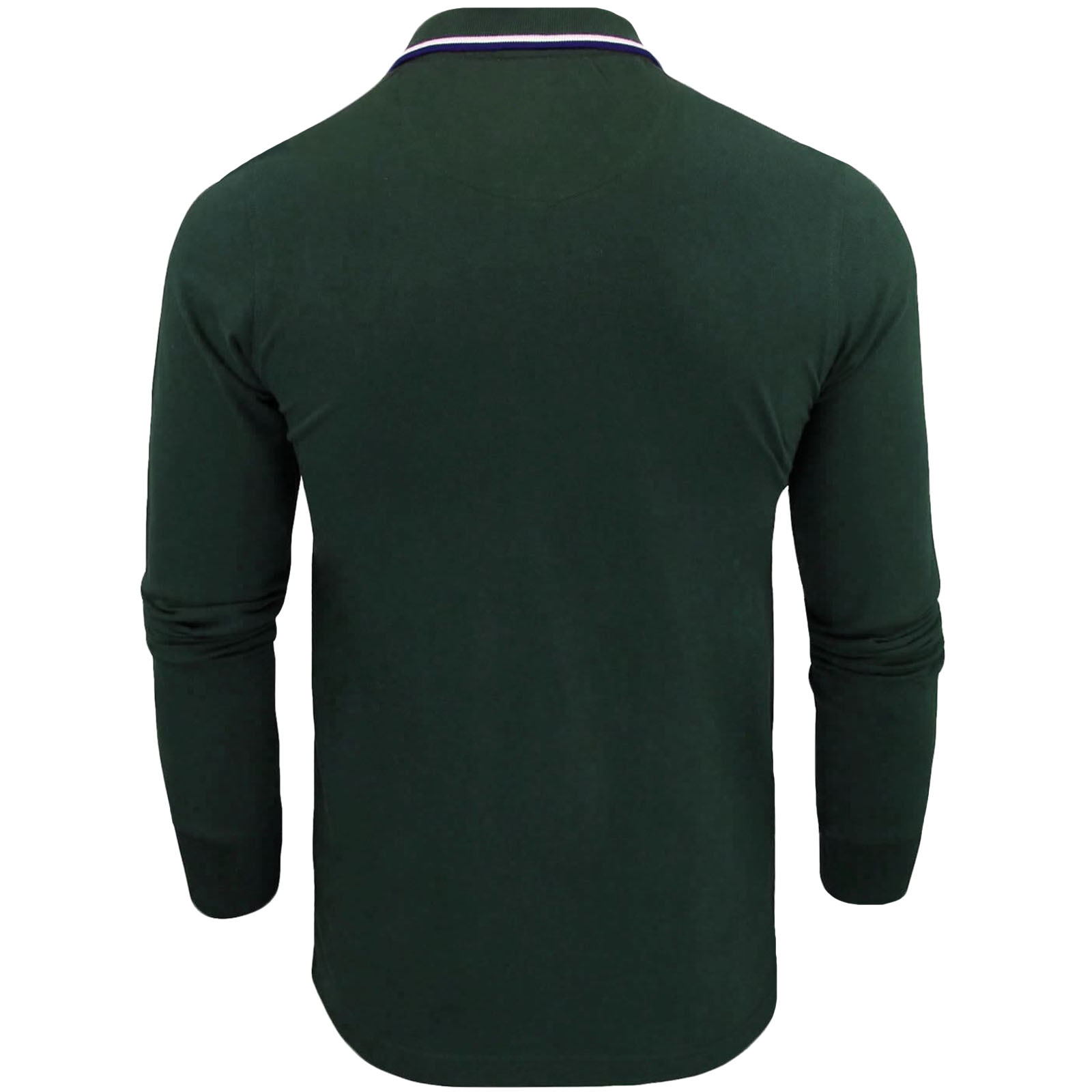 Brave-Soul-Mens-Kennedy-Plain-Cotton-Long-Sleeve-Regular-Fit-Polo-Shirt-Top