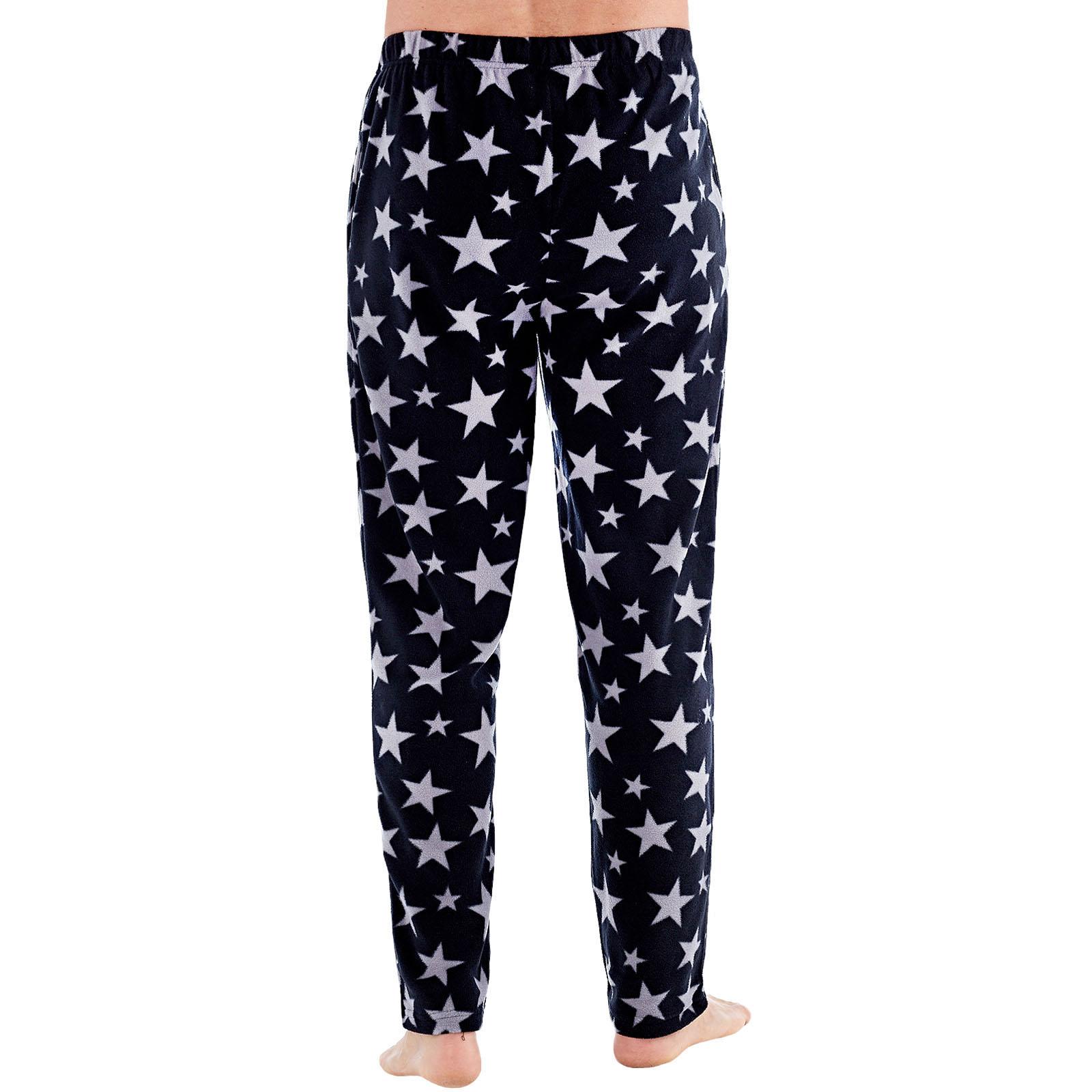 Harvey-James-Mens-Star-Fleece-Pyjama-Bottoms-Loungewear-Pants-Trousers Indexbild 3