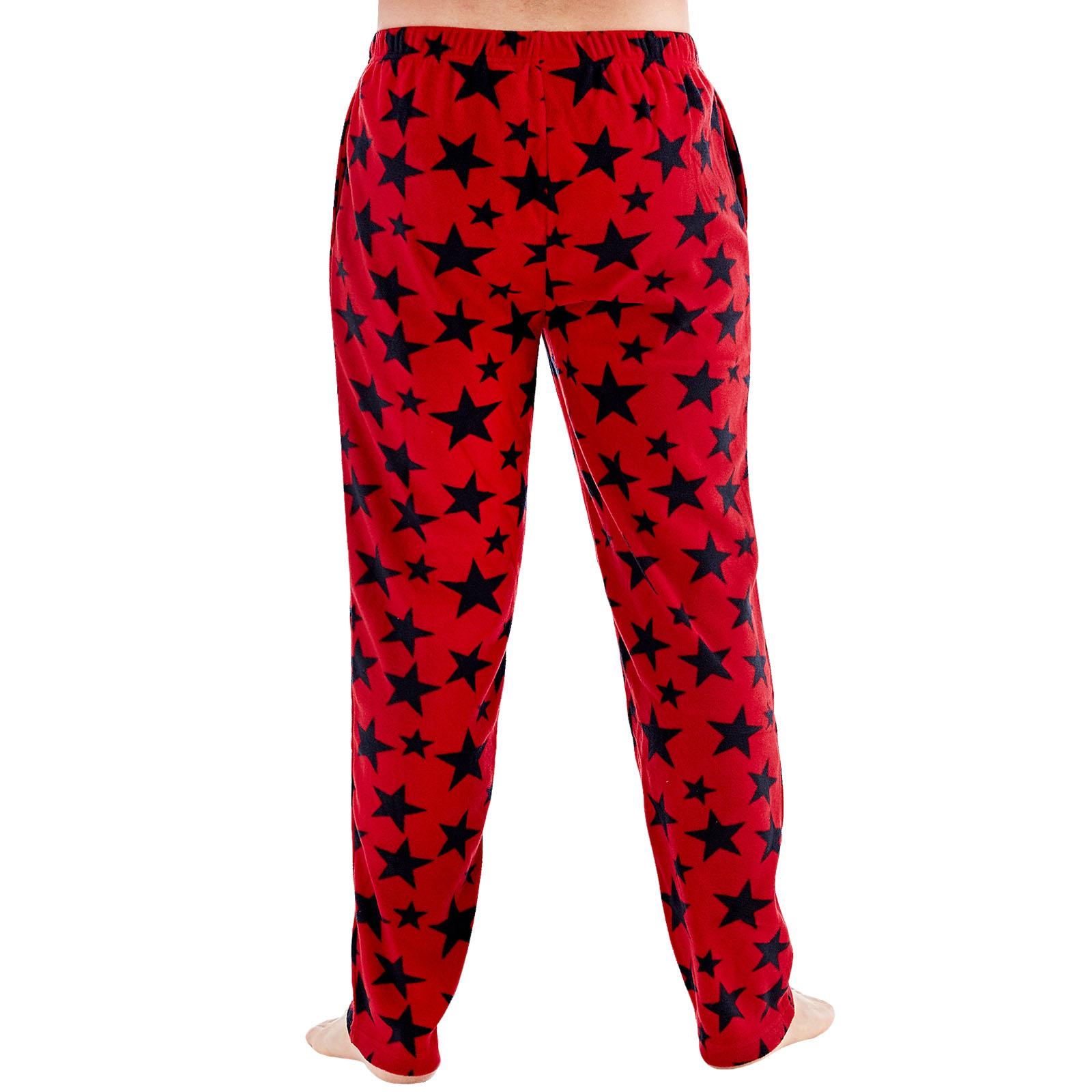 Harvey-James-Mens-Star-Fleece-Pyjama-Bottoms-Loungewear-Pants-Trousers Indexbild 5