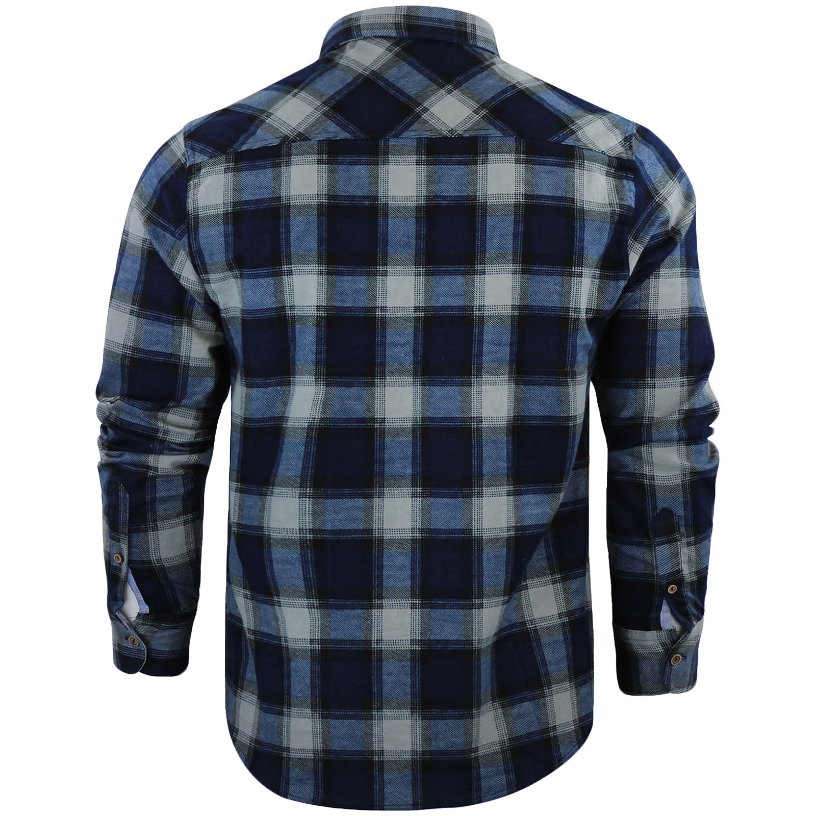 Brave-Soul-Mens-Garfield-Check-Checkered-Casual-Long-Sleeve-Lumberjack-Shirt-Top