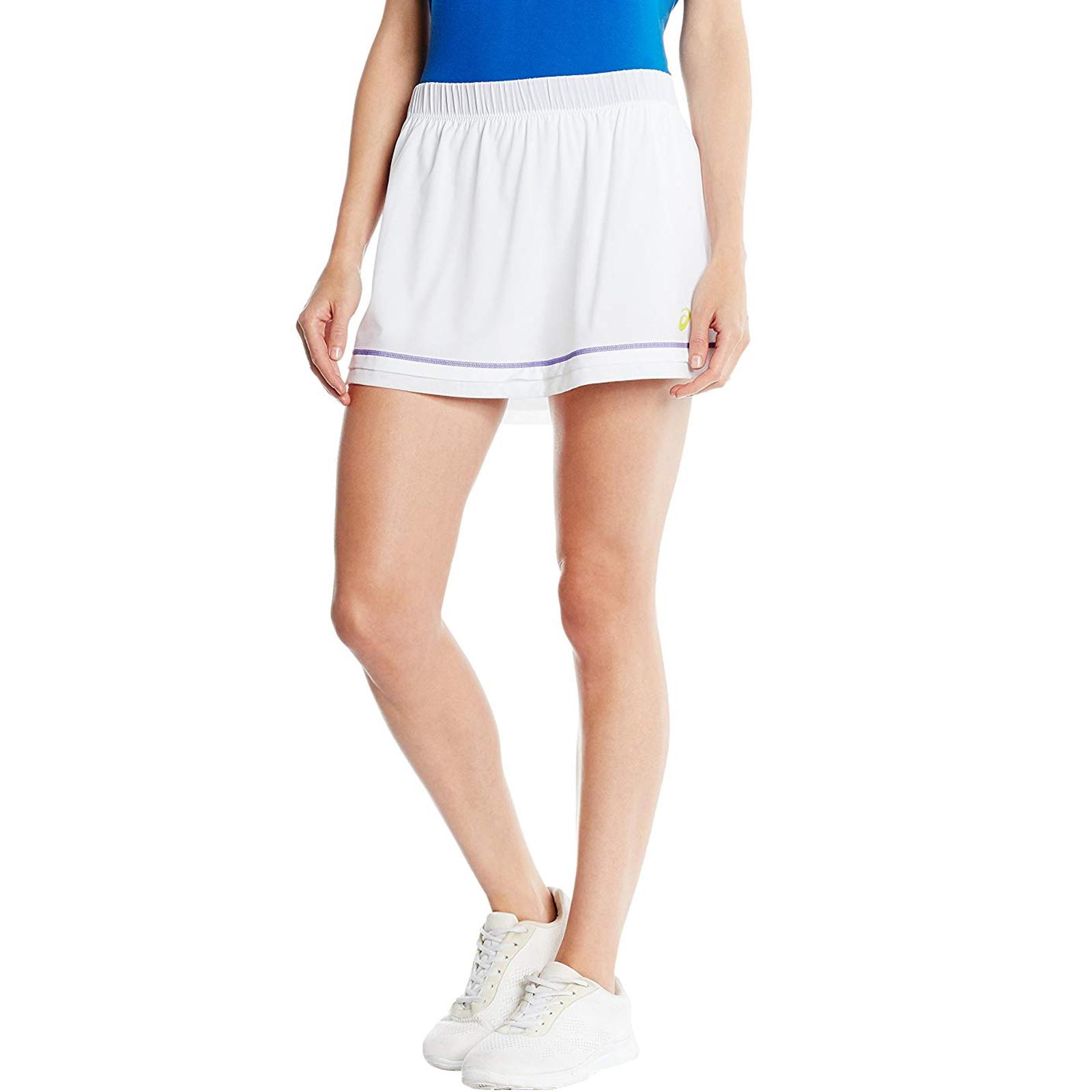 Ingegnoso Asics Da Donna Vantaggio Sports Tennis Addestramento Motiondry Gonna Pantaloncini Skort-bianco- Altamente Lucido