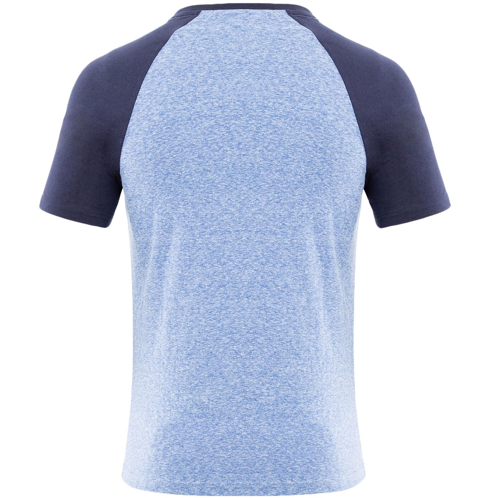 4XL Kangol Homme Rune Plus Big Tall Taille King Raglan T-Shirt-Marine Chiné