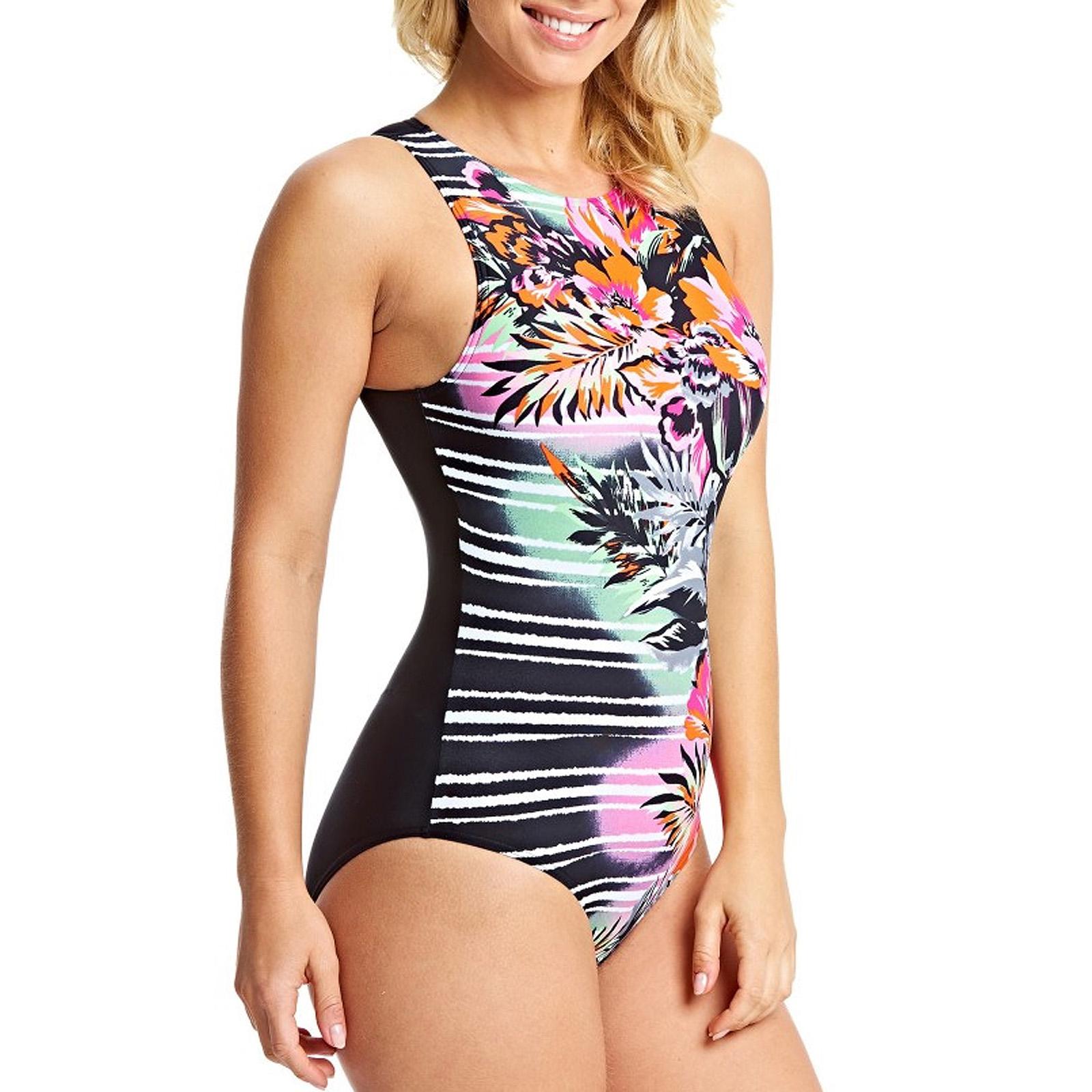 Zoggs Womens Blast Triback Swimming Swim Summer Pool Swimsuit Costume Multi