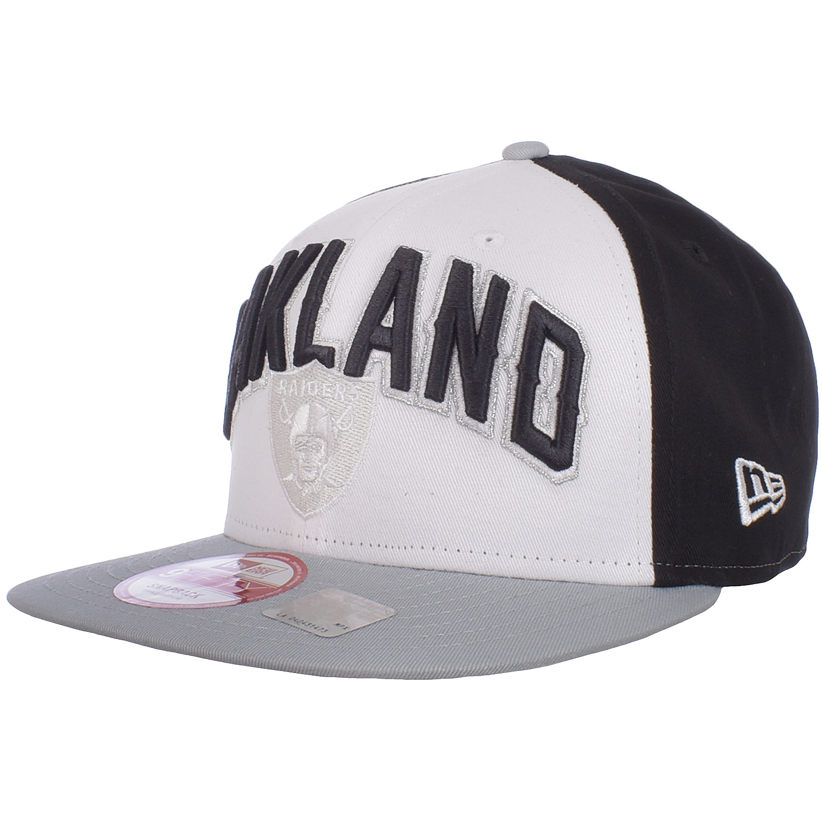c6e61462 Details about New Era Mens NFL 9FIFTY Snapback Baseball Hat Cap White  Oakland Raiders S/M