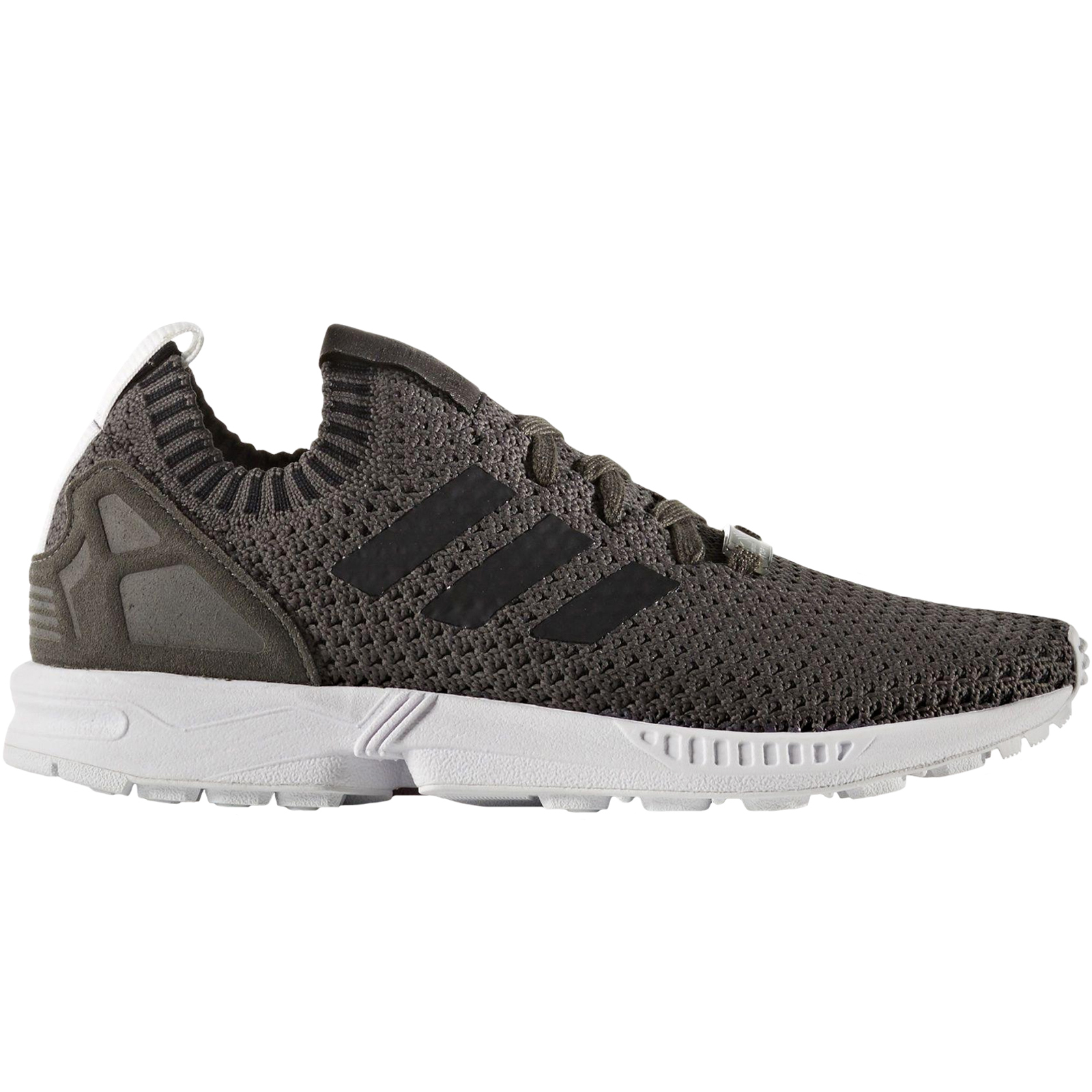 328cf133b7ea89 Details about adidas Originals Womens ZX Flux Primeknit Running Lace Up  Trainers Shoes - Grey