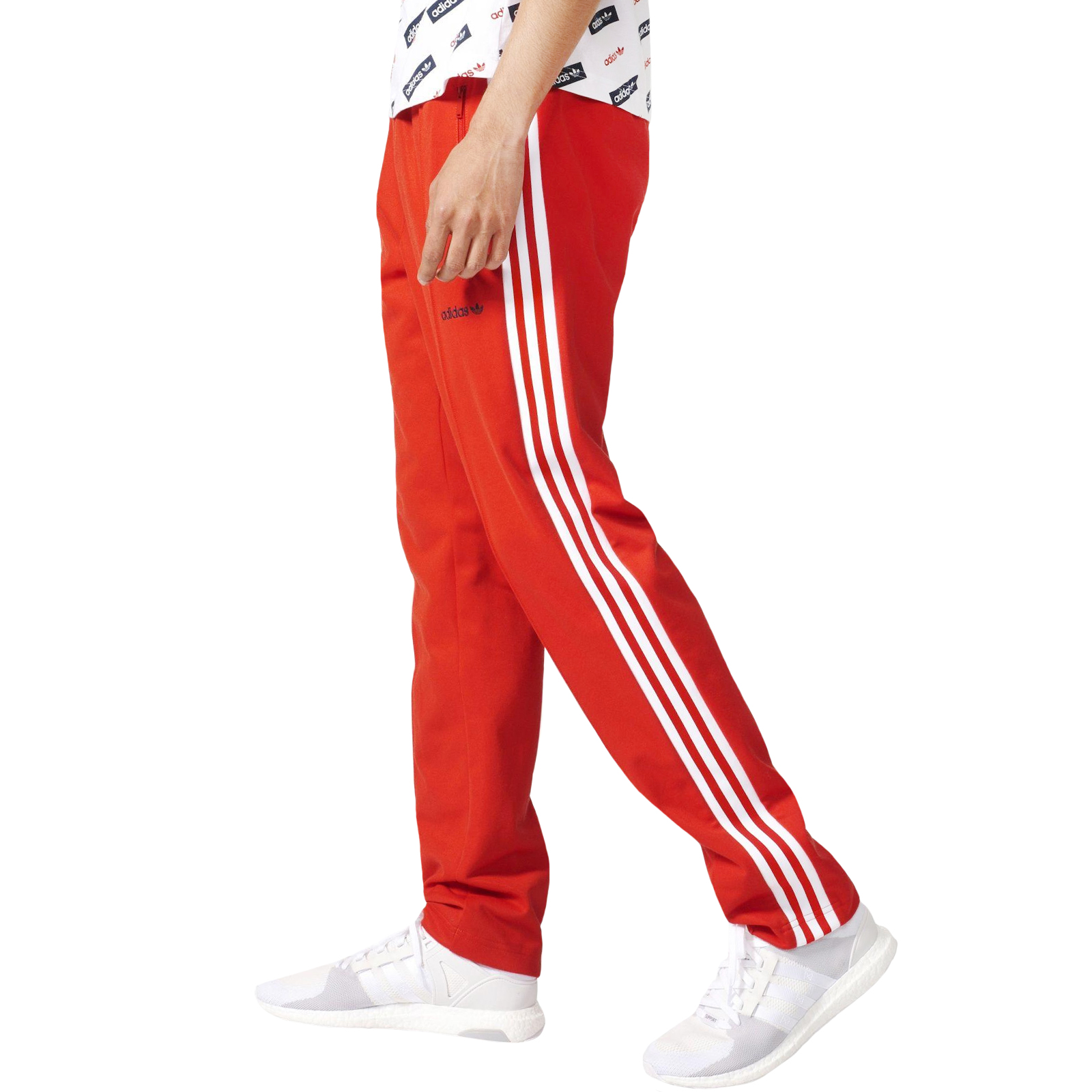 bf6626165 Details about adidas Originals Mens Block TP Tapered Casual Tracksuit Track  Pants Bottoms -Red