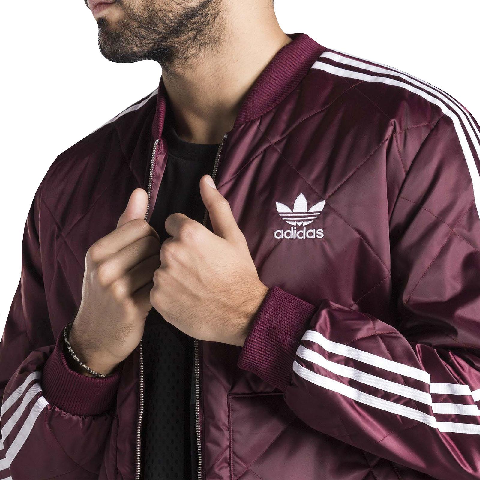 ADIDAS ORIGINALS MENS Superstar Quilted Zipped Long Sleeve ...